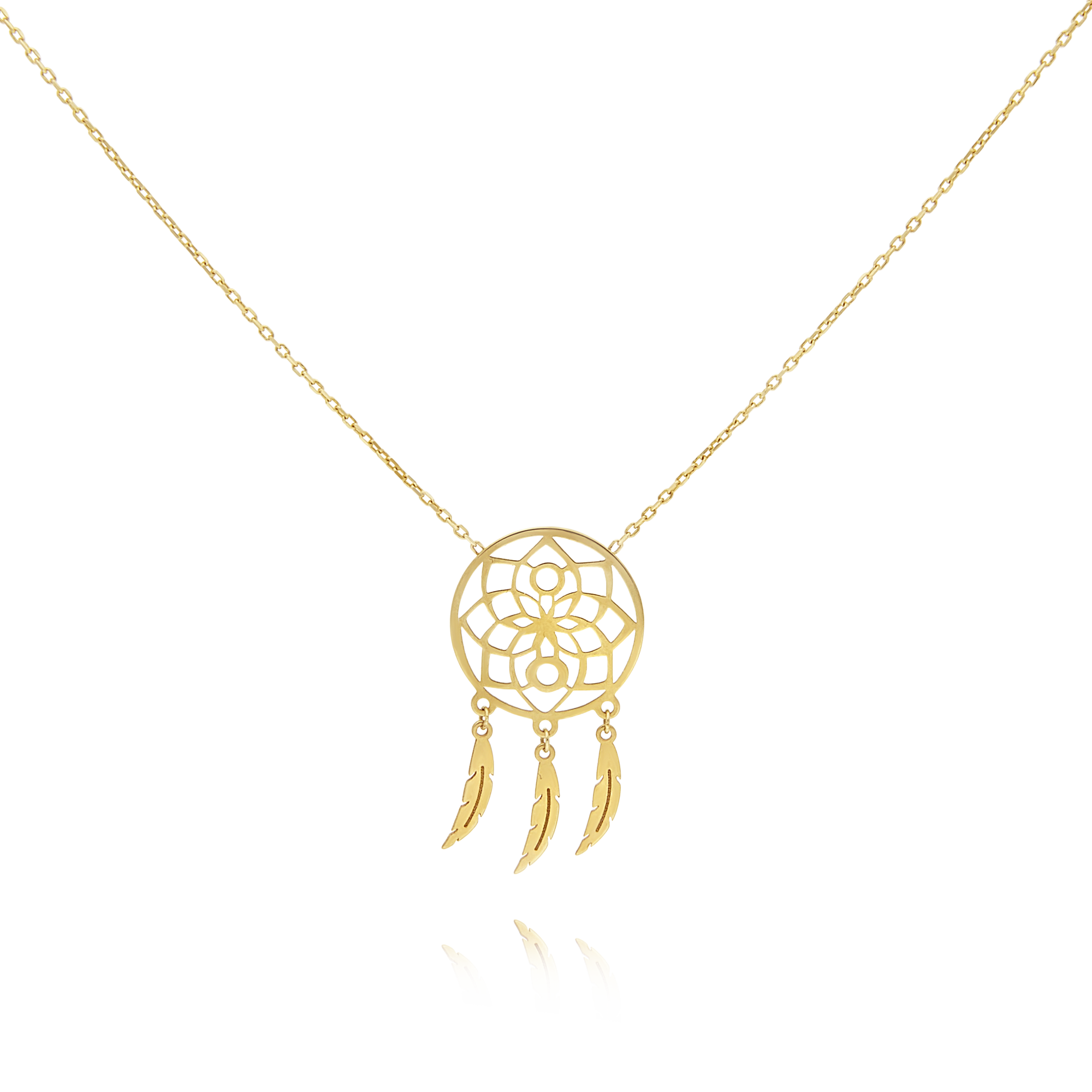 9ct Gold Dreamcatcher Pendant