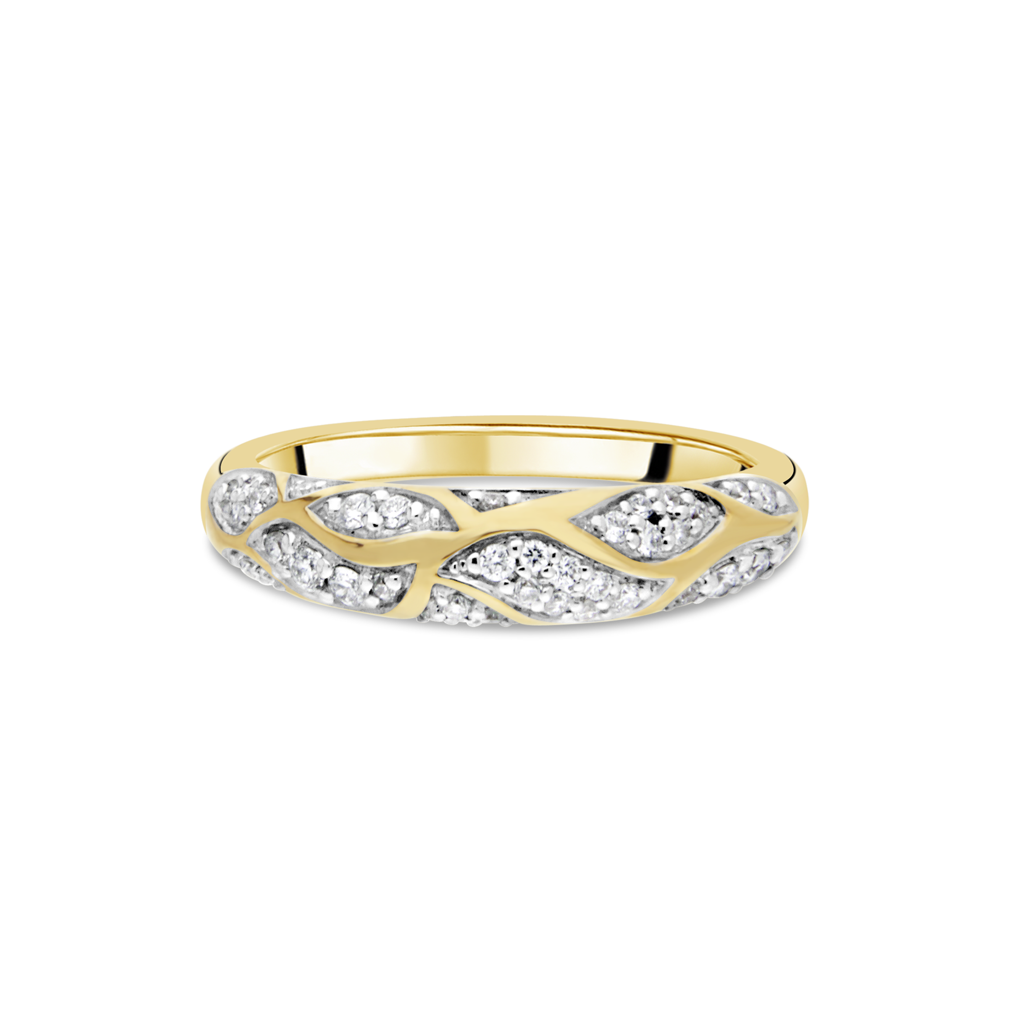 18ct Gold and Diamond Wave Ring