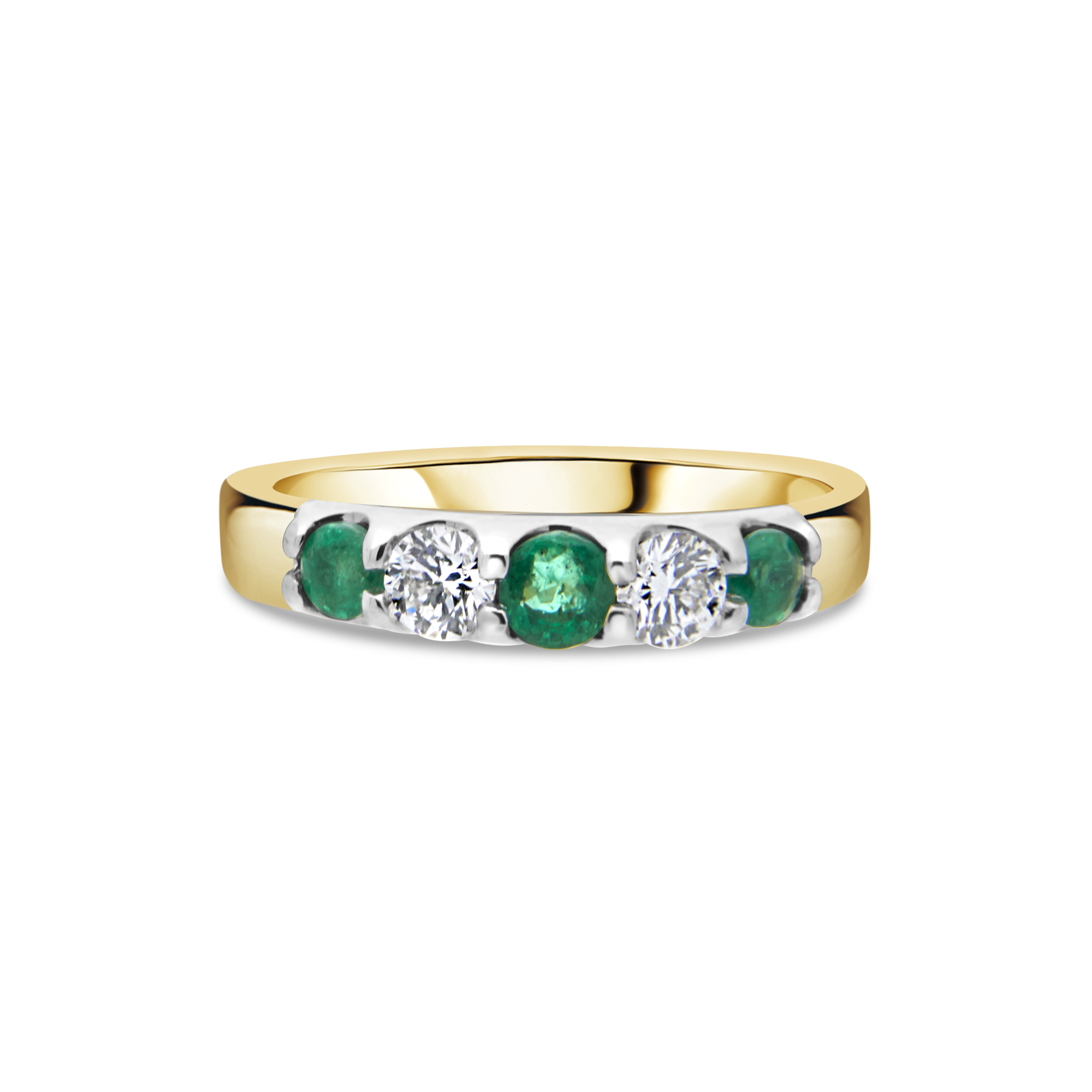 "The ""Wave"" Emerald and Diamond Ring, Yellow Gold"
