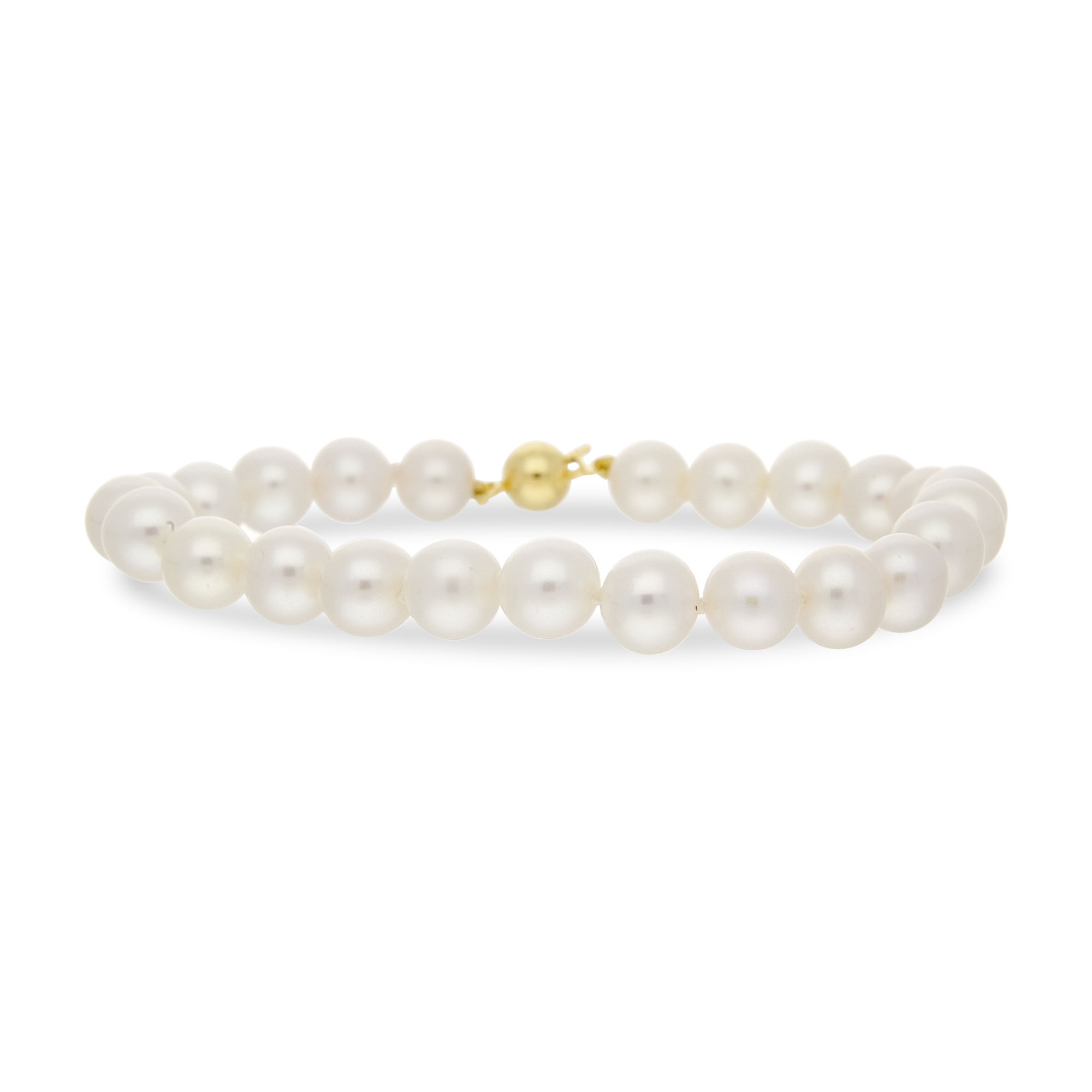 Pearl Bracelet Yellow Gold 7-7.5mm