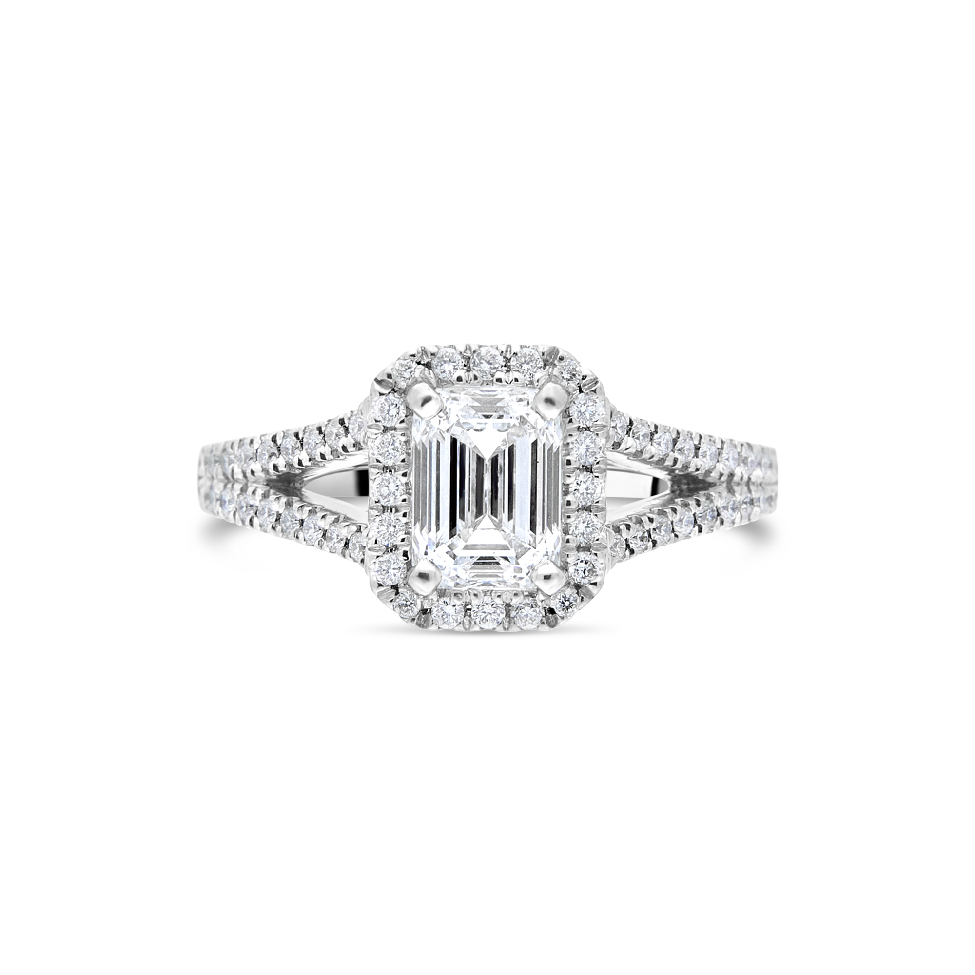 "The ""Ascendance"" with Emerald Cut Platinum"