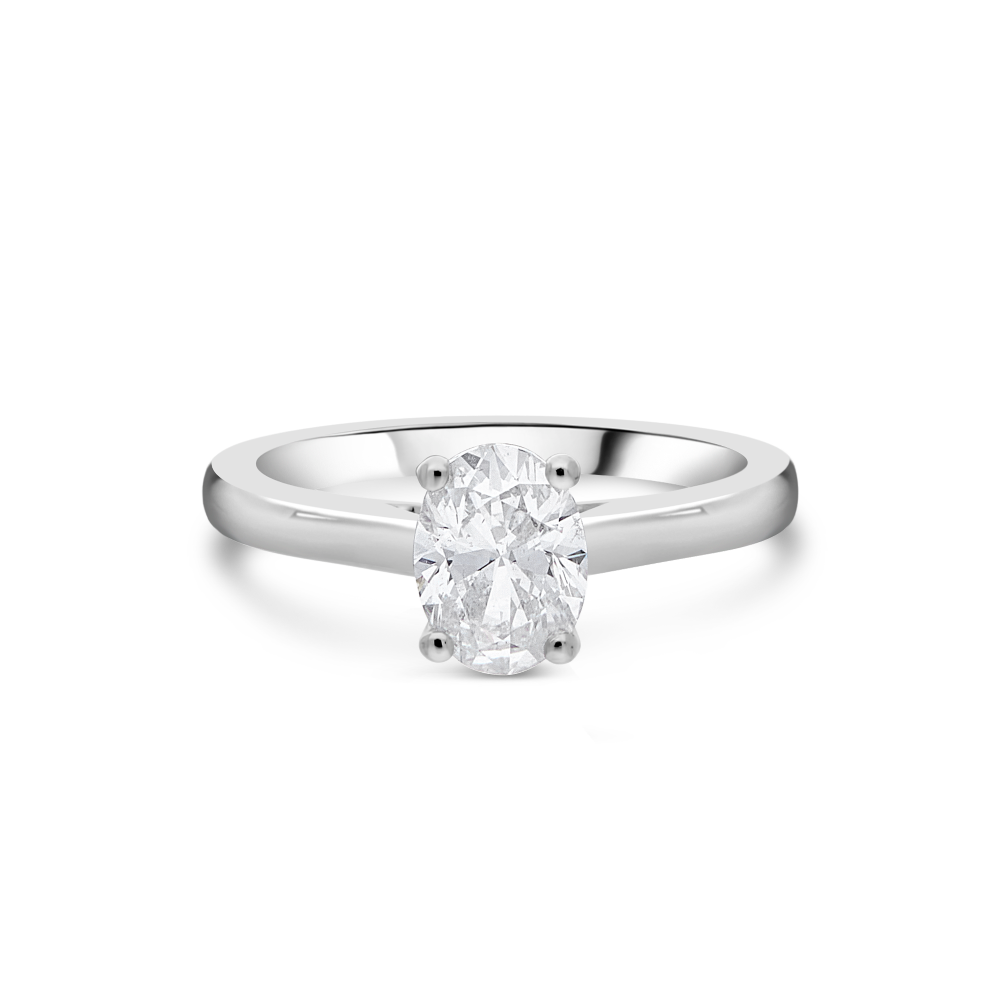 "The ""Peitho"" Oval Solitaire, Platinum"
