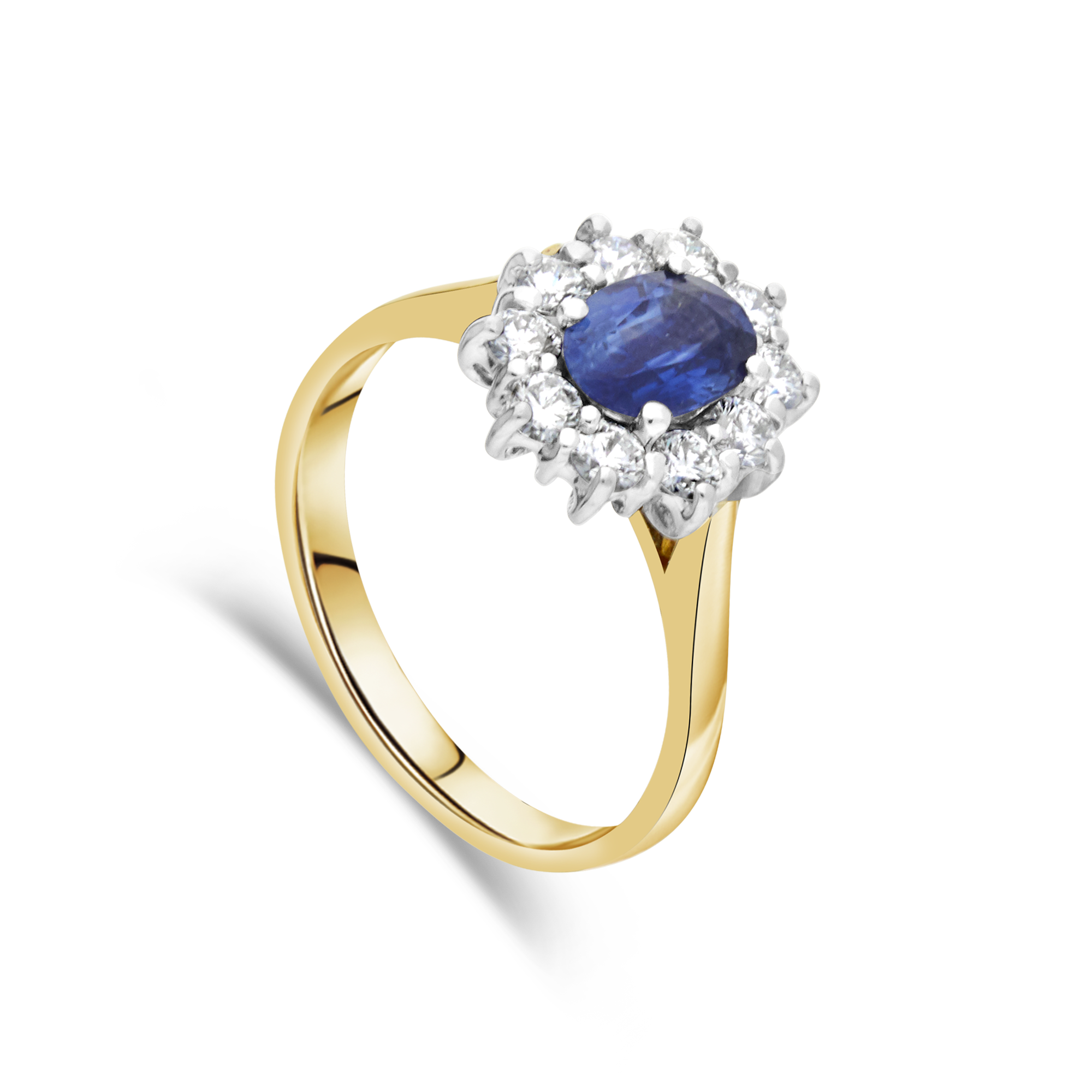 "The ""Kate"" Sapphire and Diamond, Yellow Gold"