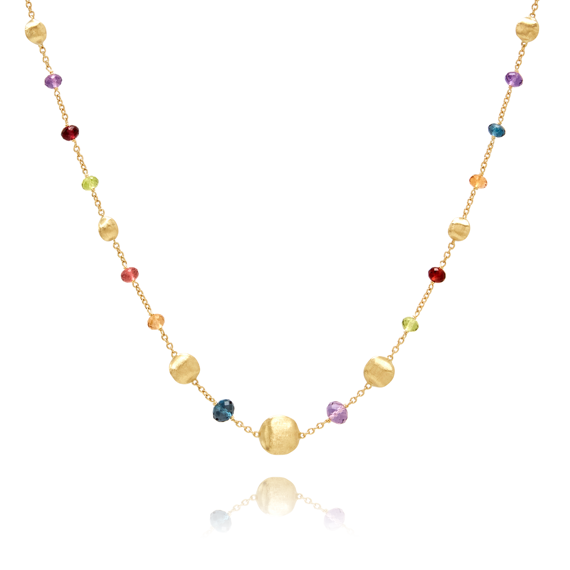 "18ct Gold Multi-Gemstone ""Africa"" Necklace Marco Bicego"