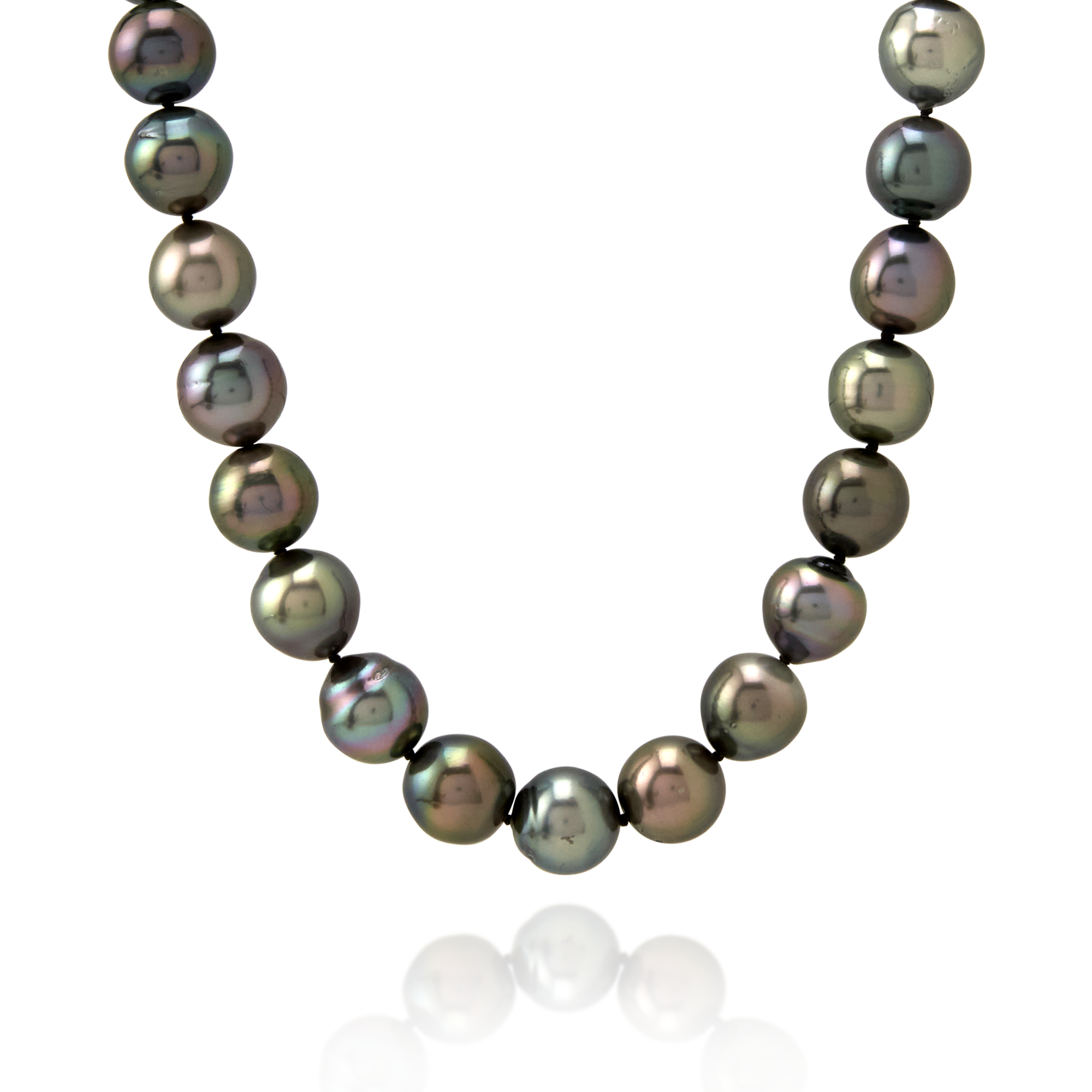 9ct White Gold Tahitian Pearl Strand