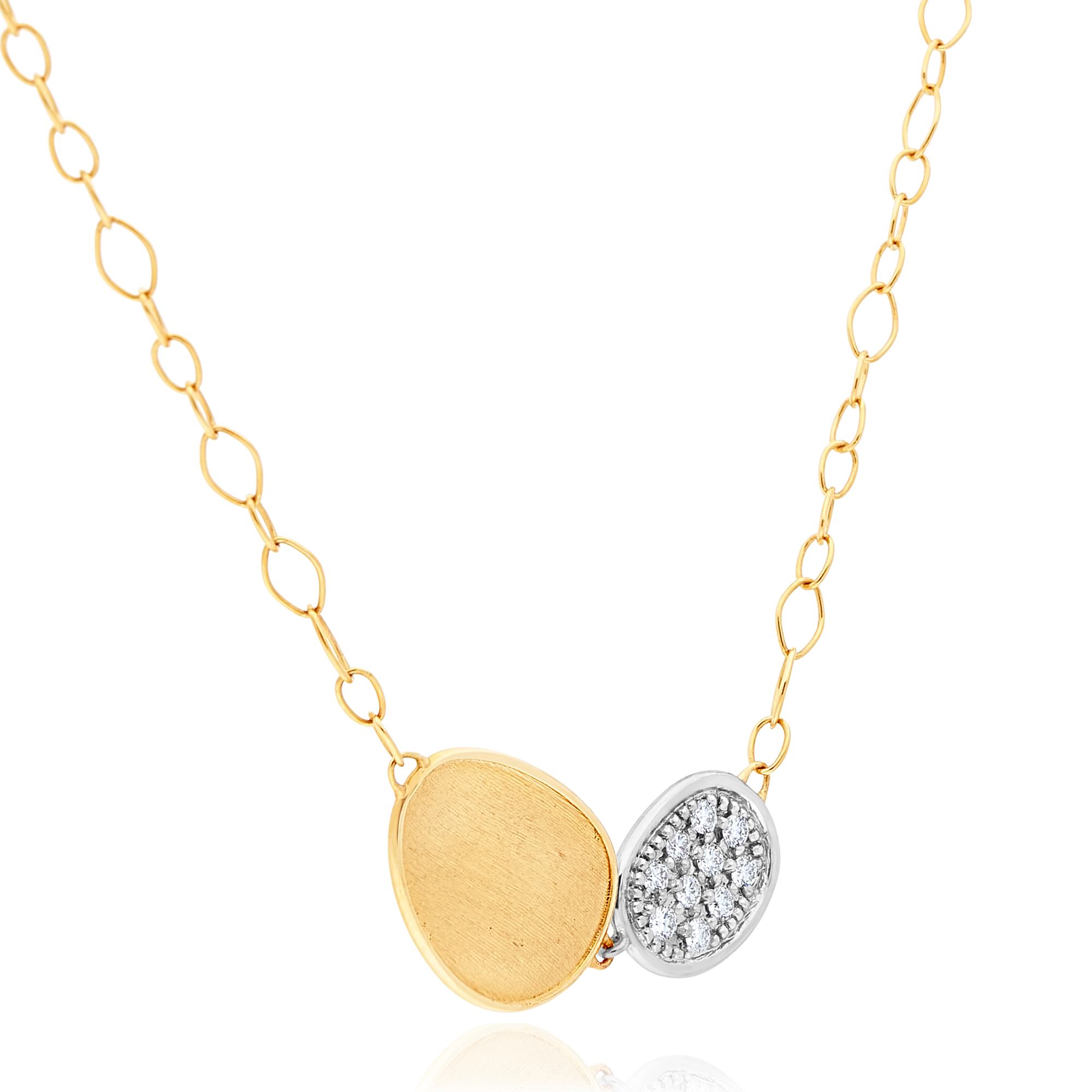 "18ct Gold and Diamond ""Lunaria"" Pendant Marco Bicego"