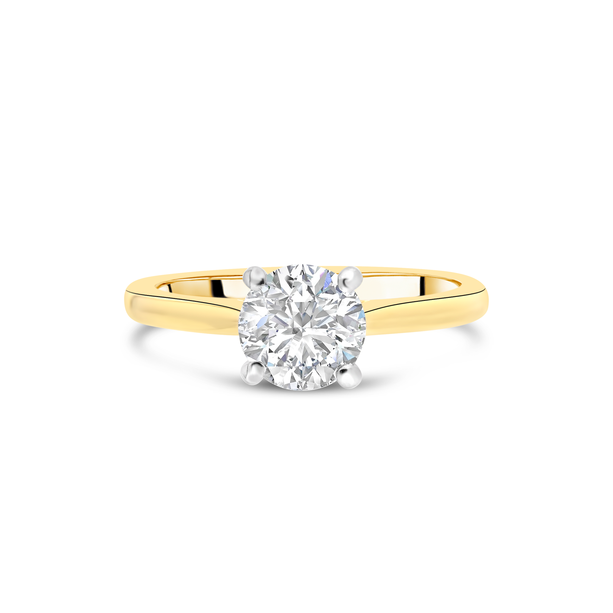 "The ""J'adore"" Solitaire, Yellow Gold"