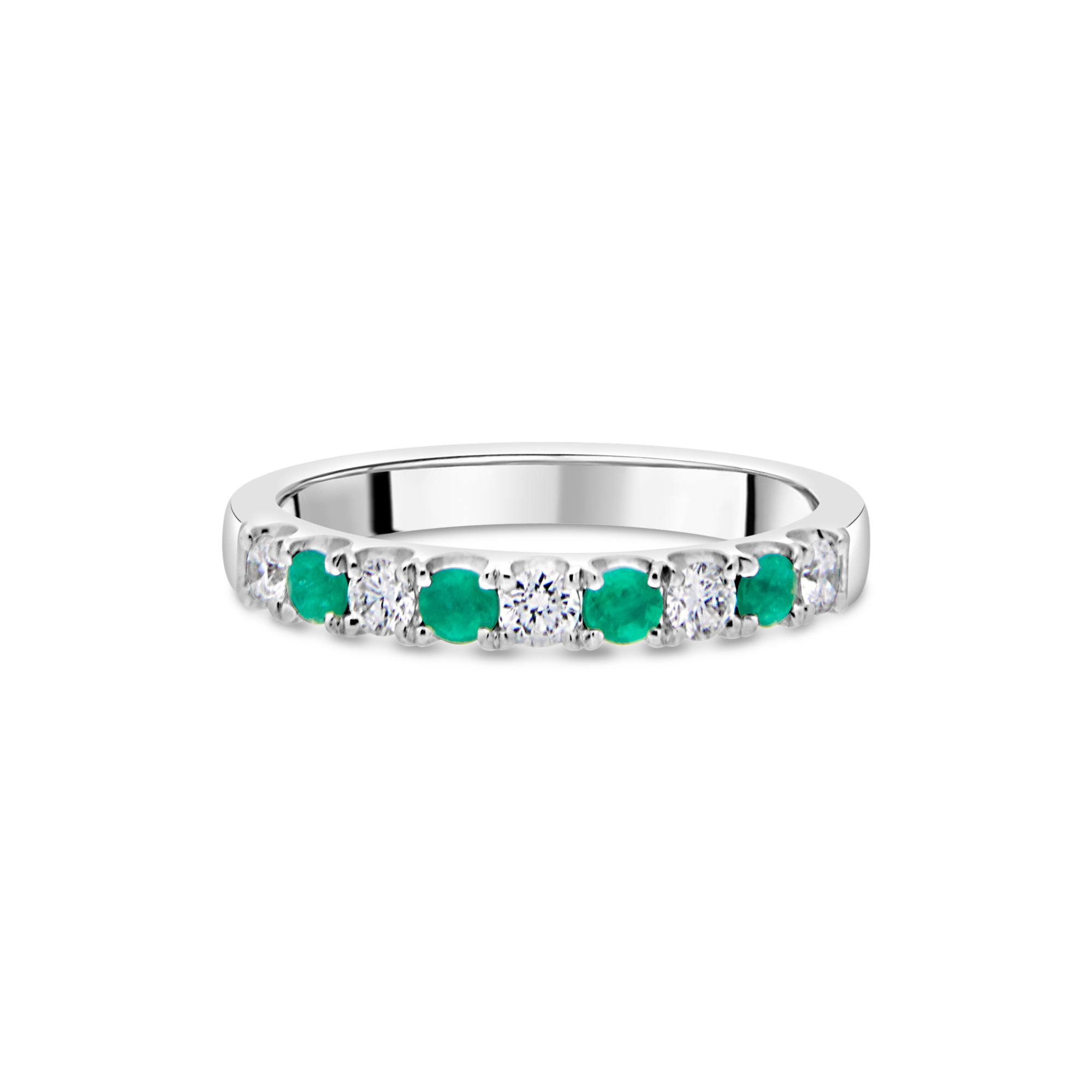 "The ""Chantilly"" with Emerald and Diamond, Platinum"