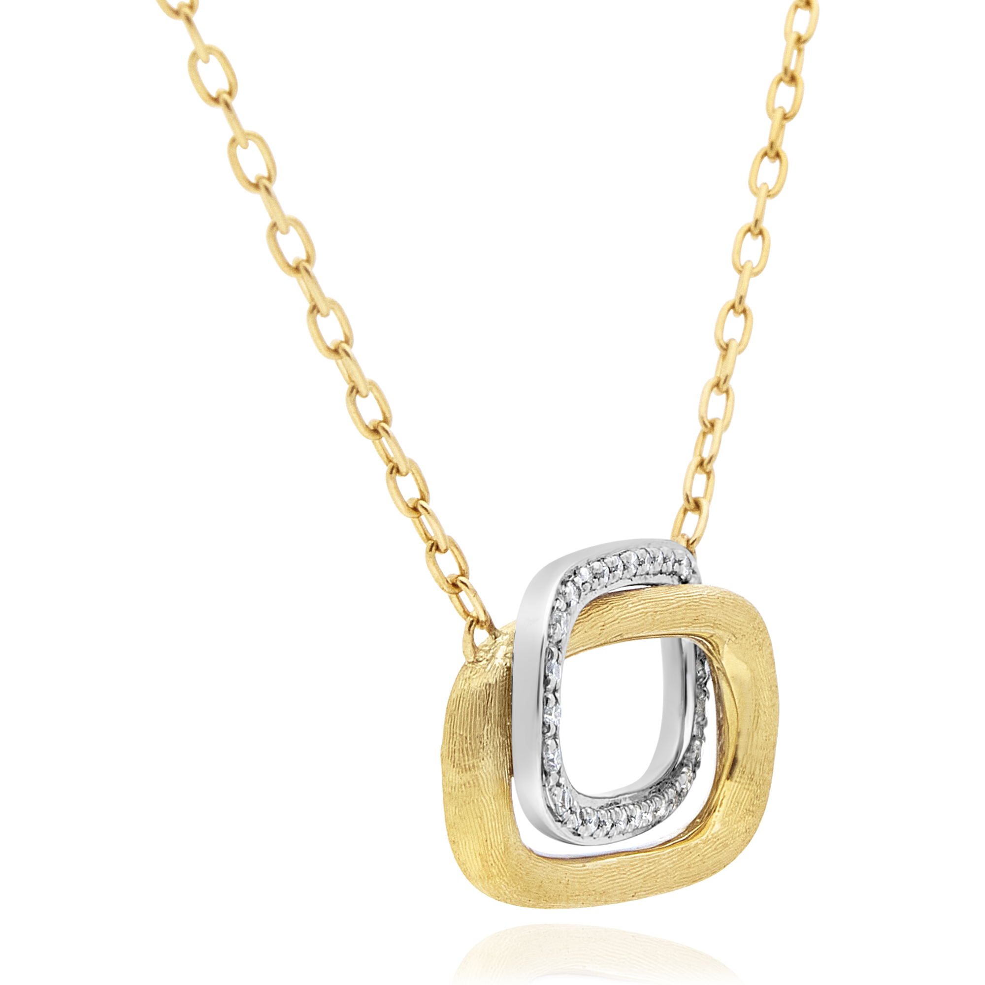 "18ct Yellow Gold and Diamond ""Murano"" Pendant Marco Bicego"