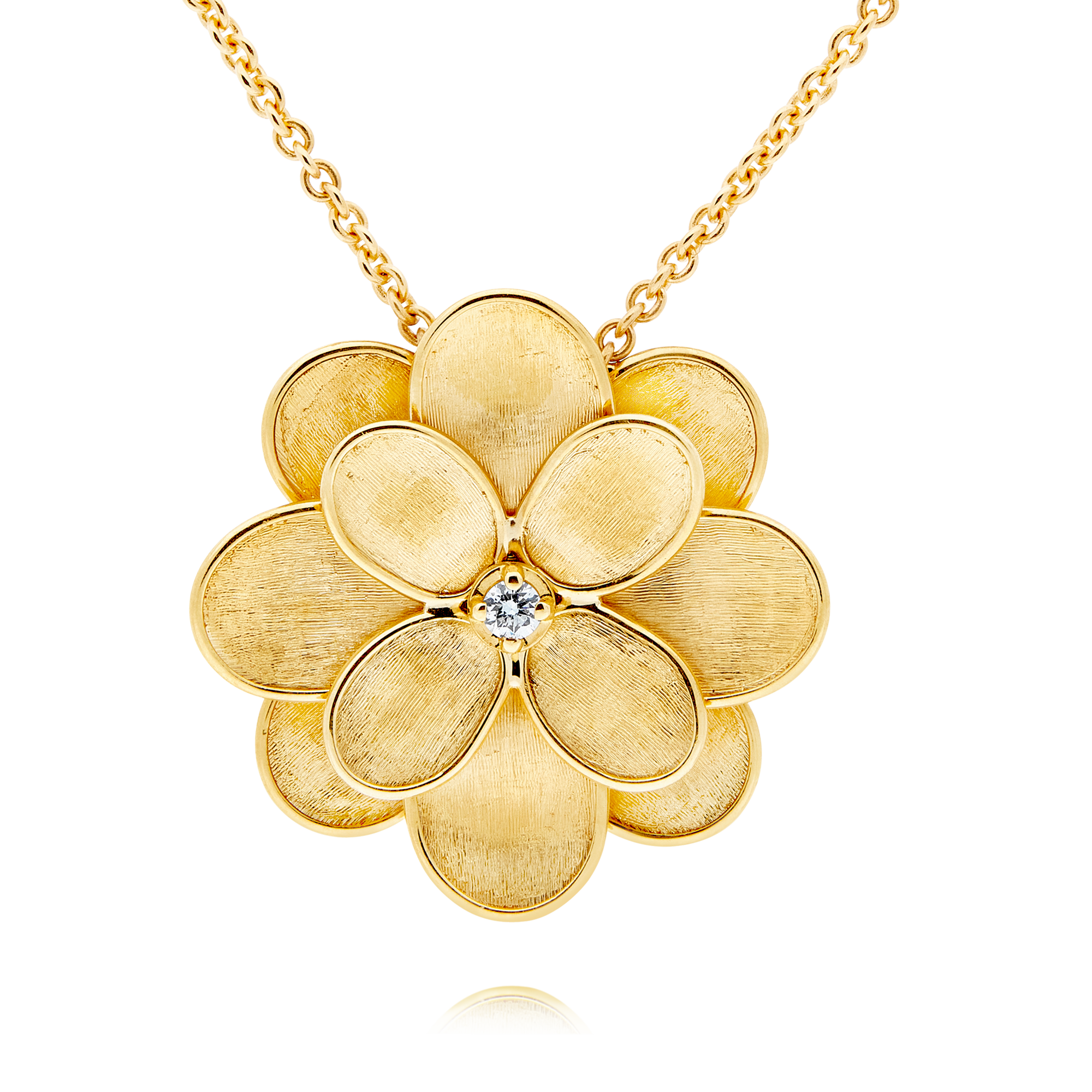 "18ct Gold and Diamond ""Petali"" Pendant Marco Bicego"