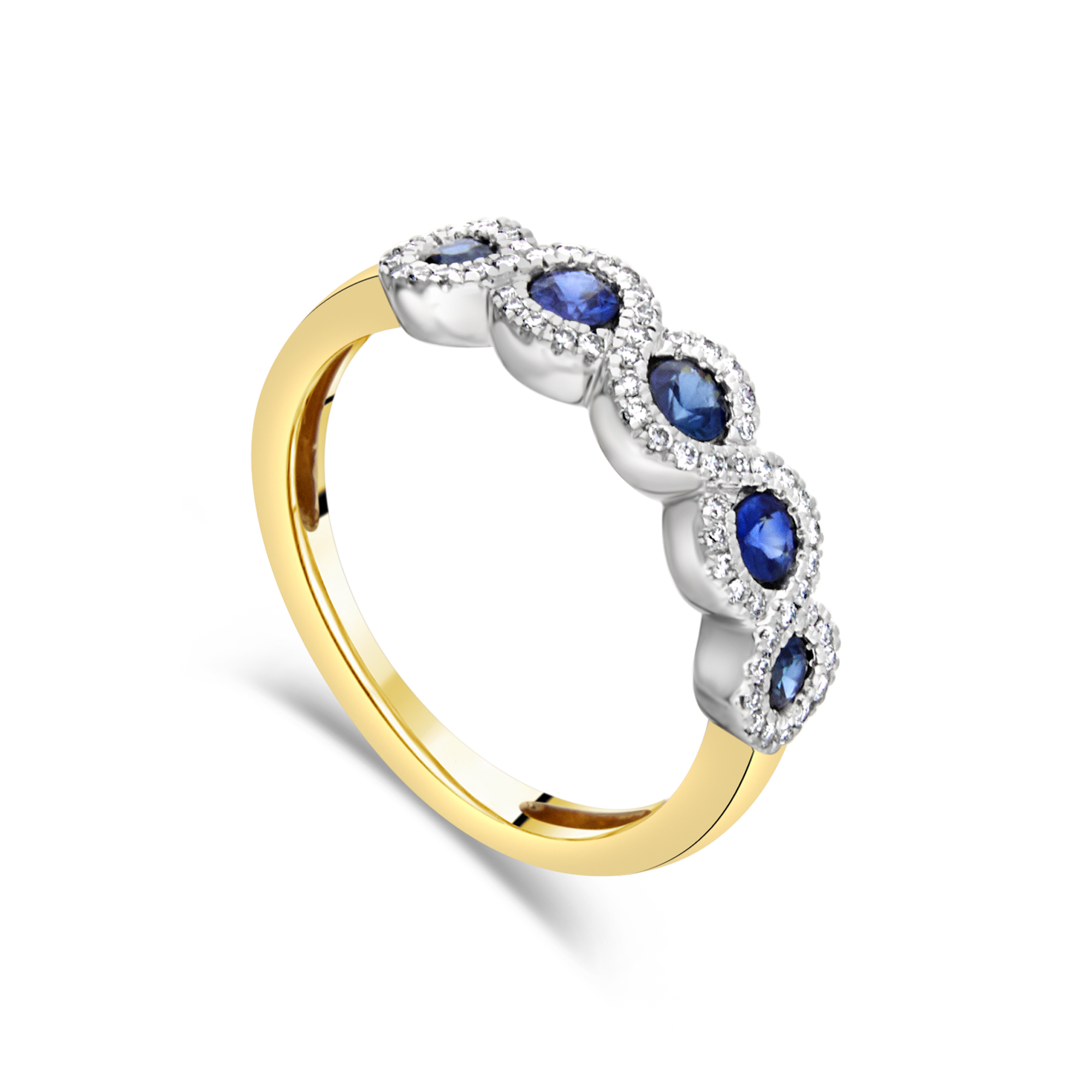 "The ""Presence"" with Blue Sapphire, Yellow Gold"