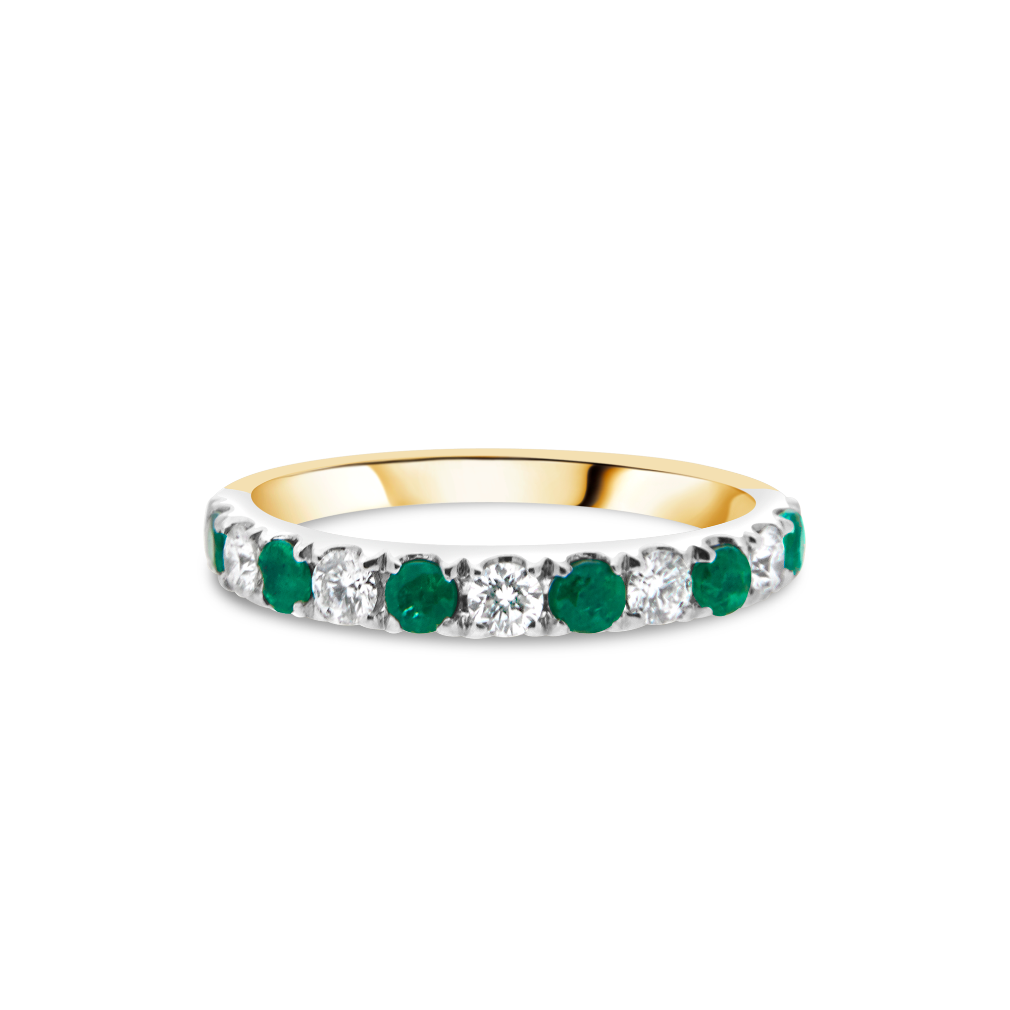 "The ""Galeria"" with Emerald and Diamond, Yellow Gold"