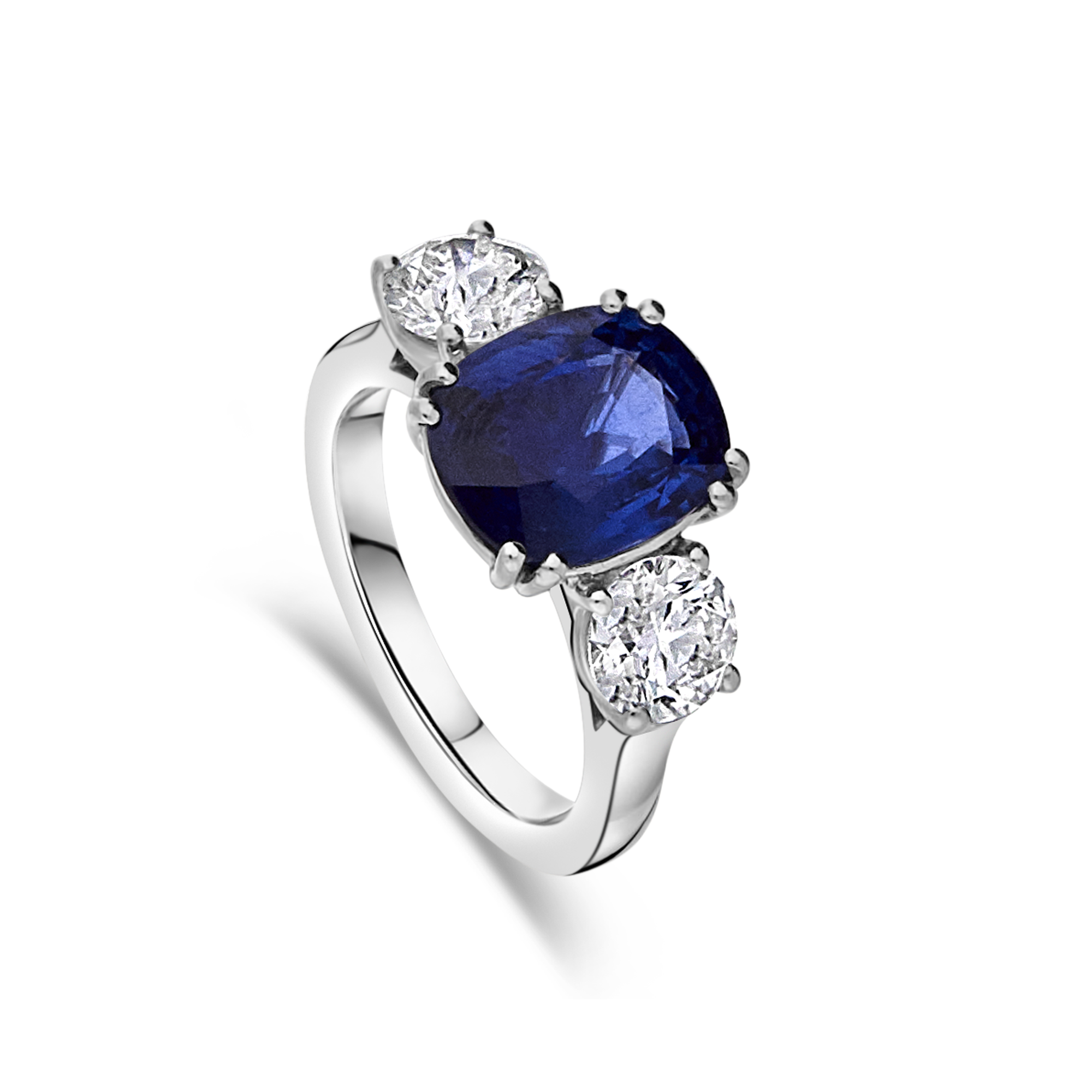 "The ""Ascot"" Sapphire and Diamond Trilogy, Platinum"