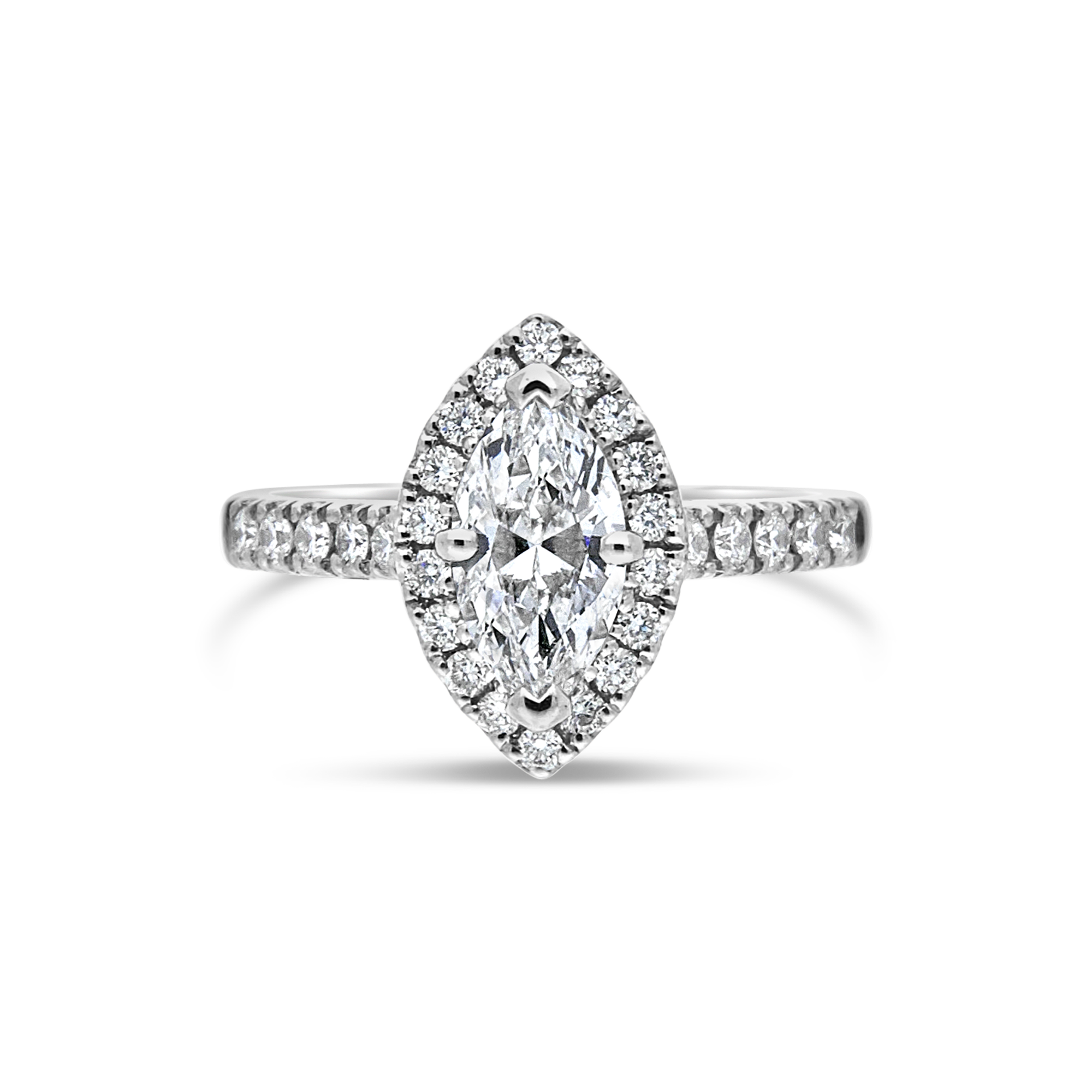 "The ""Corinne"" Marquise Diamond, Diamond Set Band, 1.45ct total"