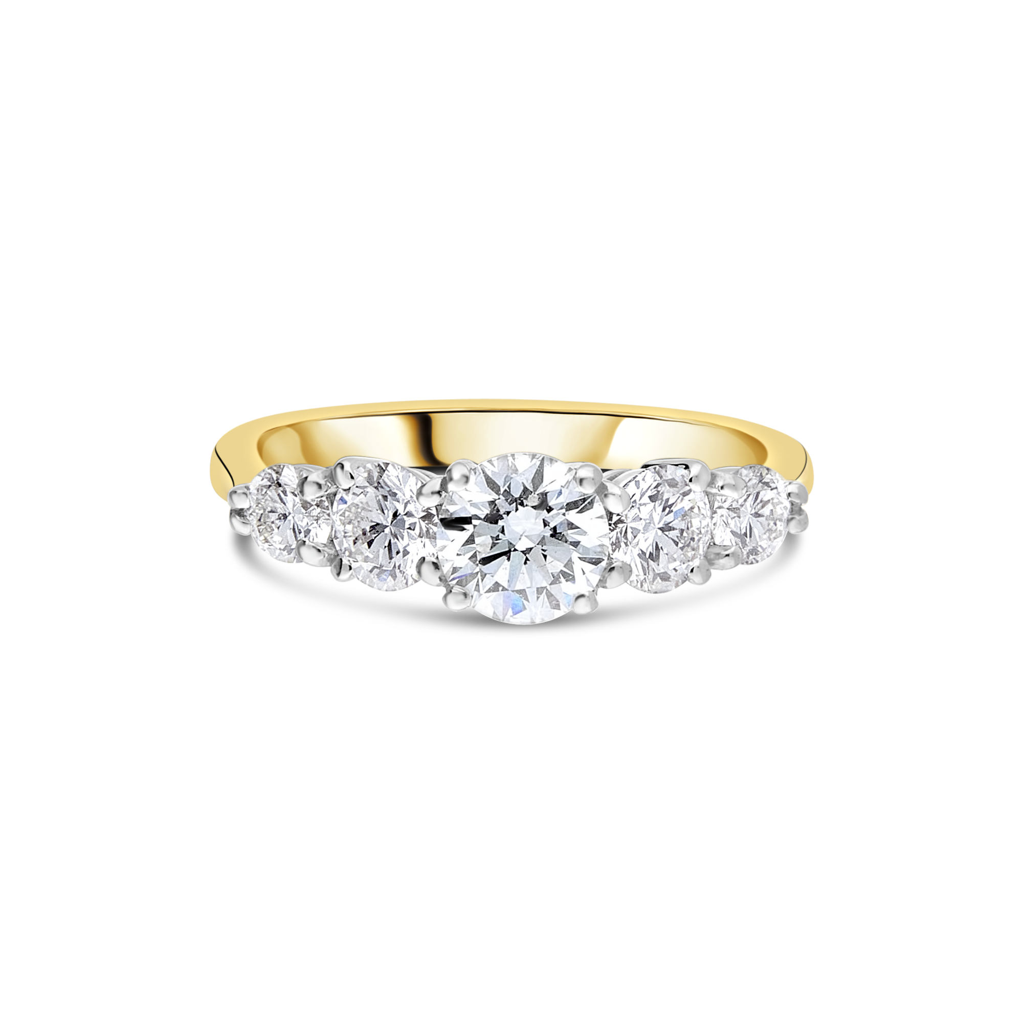 "The ""Decor"" Five Stone Ring, Yellow Gold"