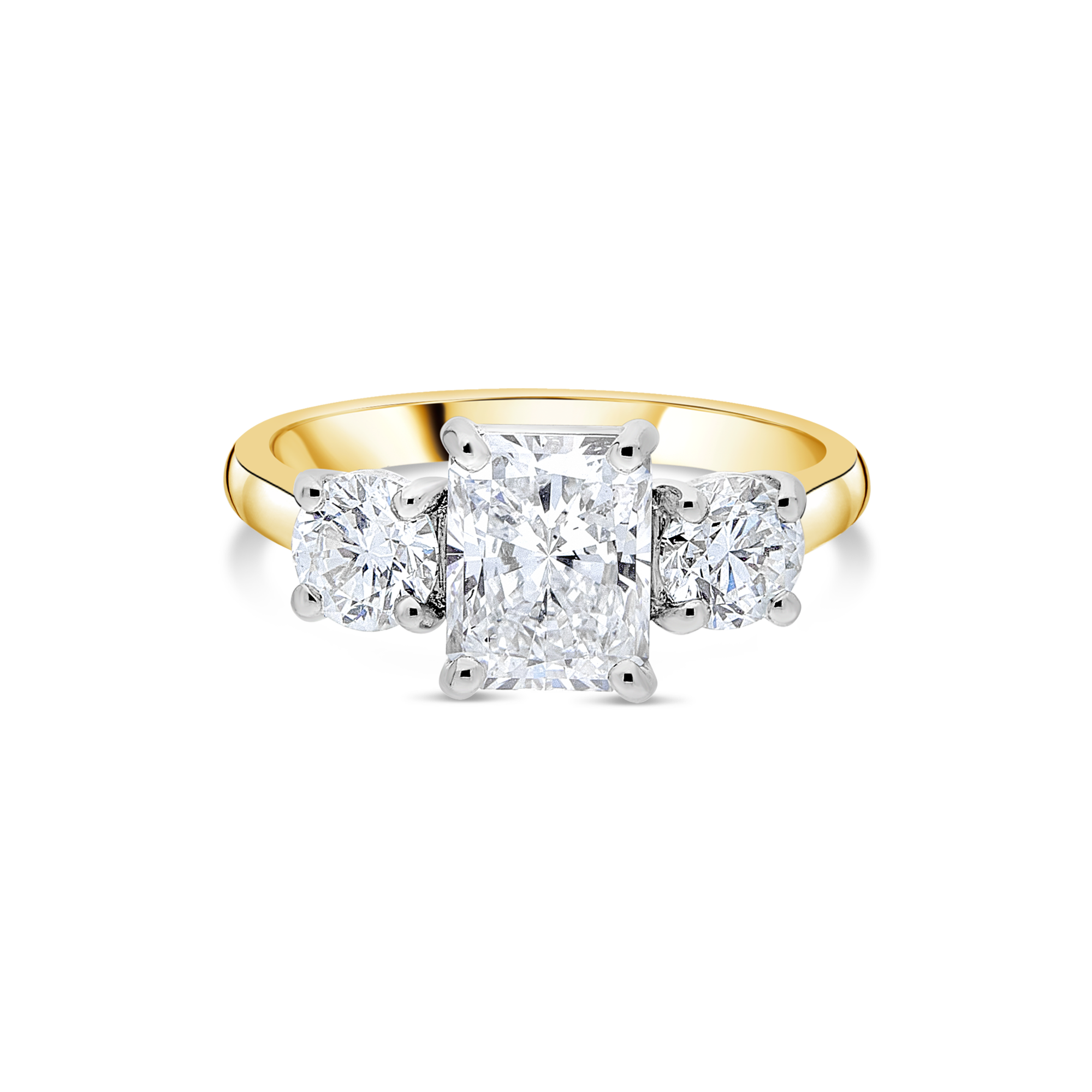 "The ""Ascot"" with Radiant Cut, Yellow Gold"
