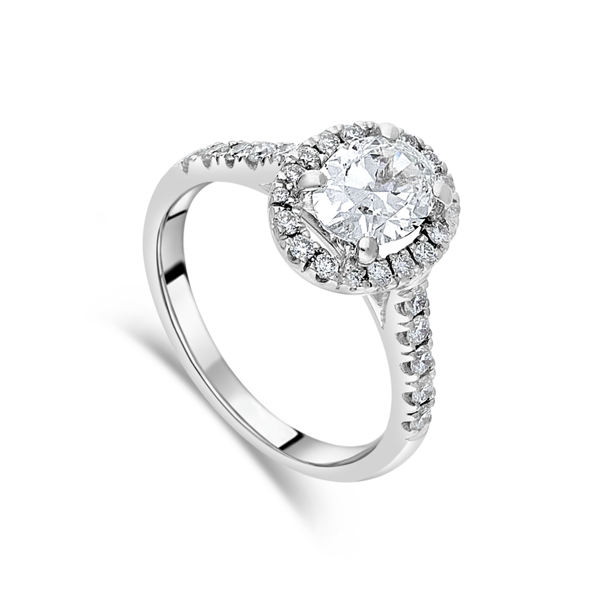 "The ""Corinne"" Oval Diamond, Diamond Set Band, 1.34ct total"