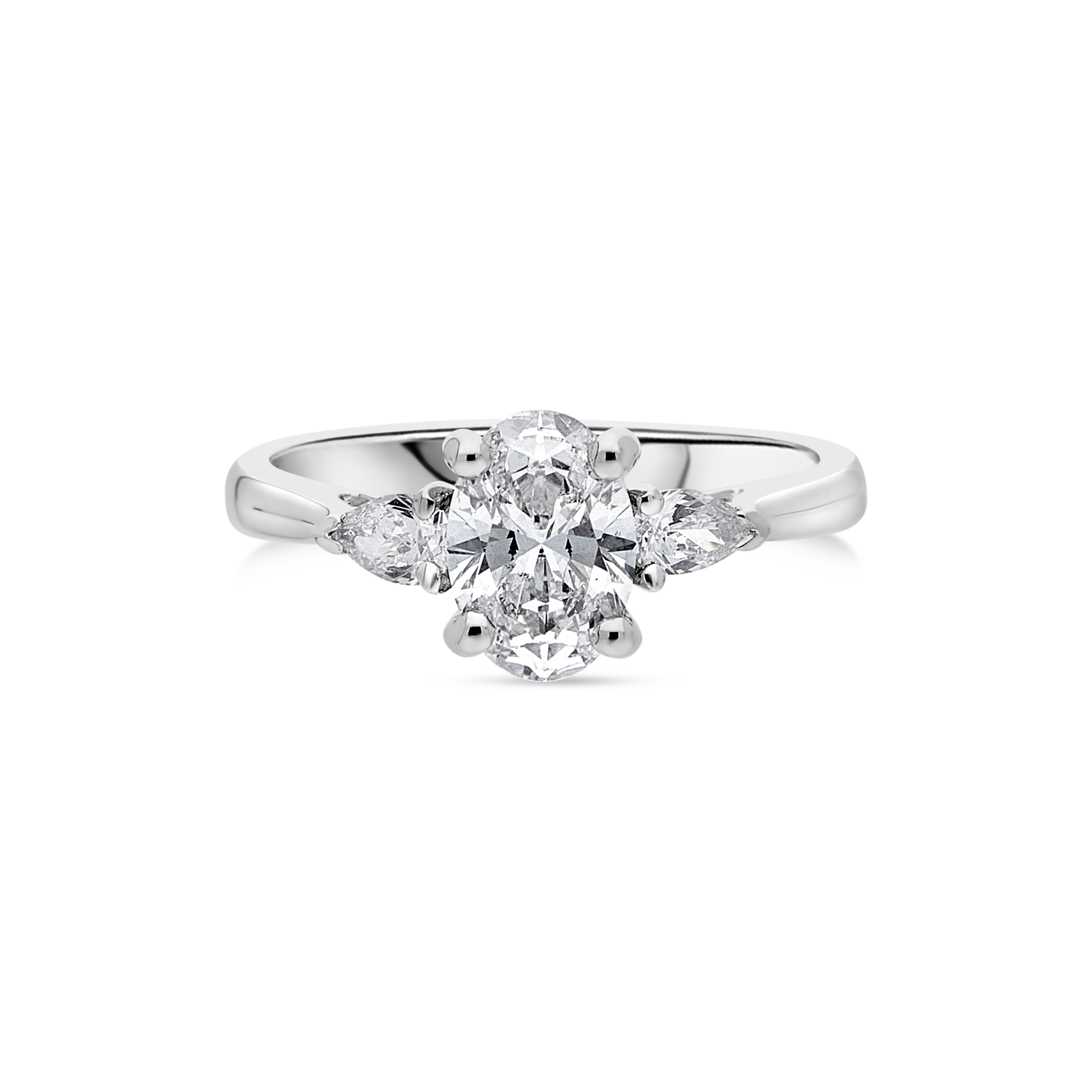 "The ""Tranquility"" with Oval Diamond Platinum"