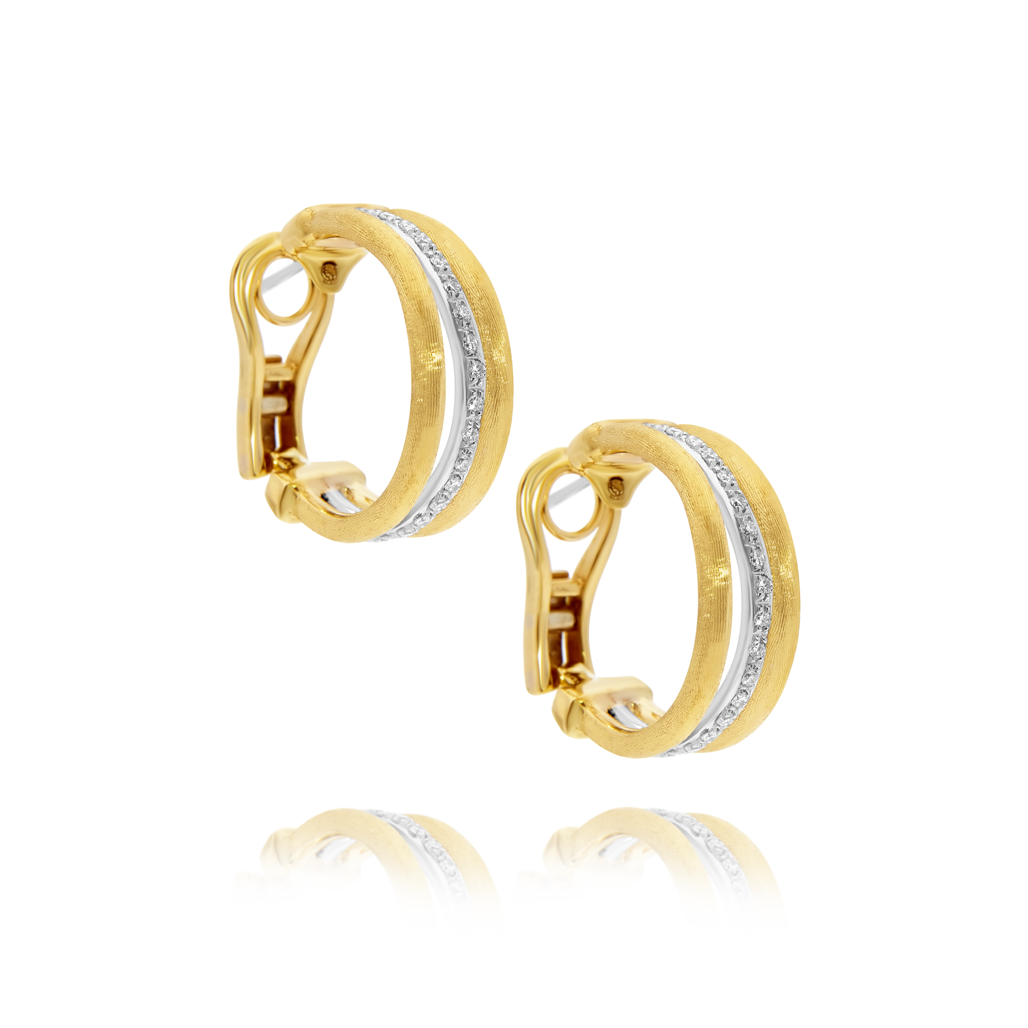 "18ct Gold and Diamond ""Jaipur"" Hoops Marco Bicego"