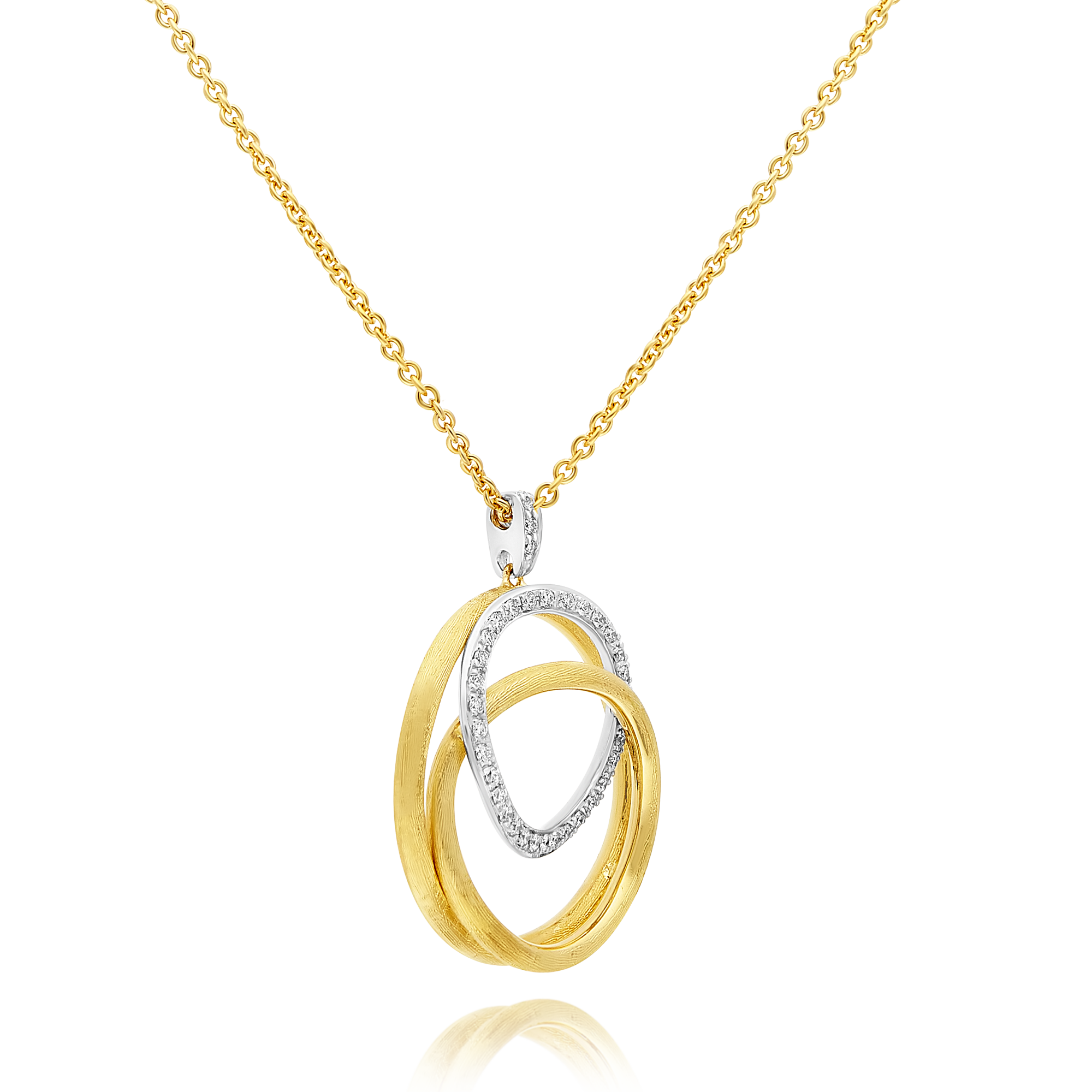 "18ct Gold and Diamond ""Jaipur"" Pendant Marco Bicego"