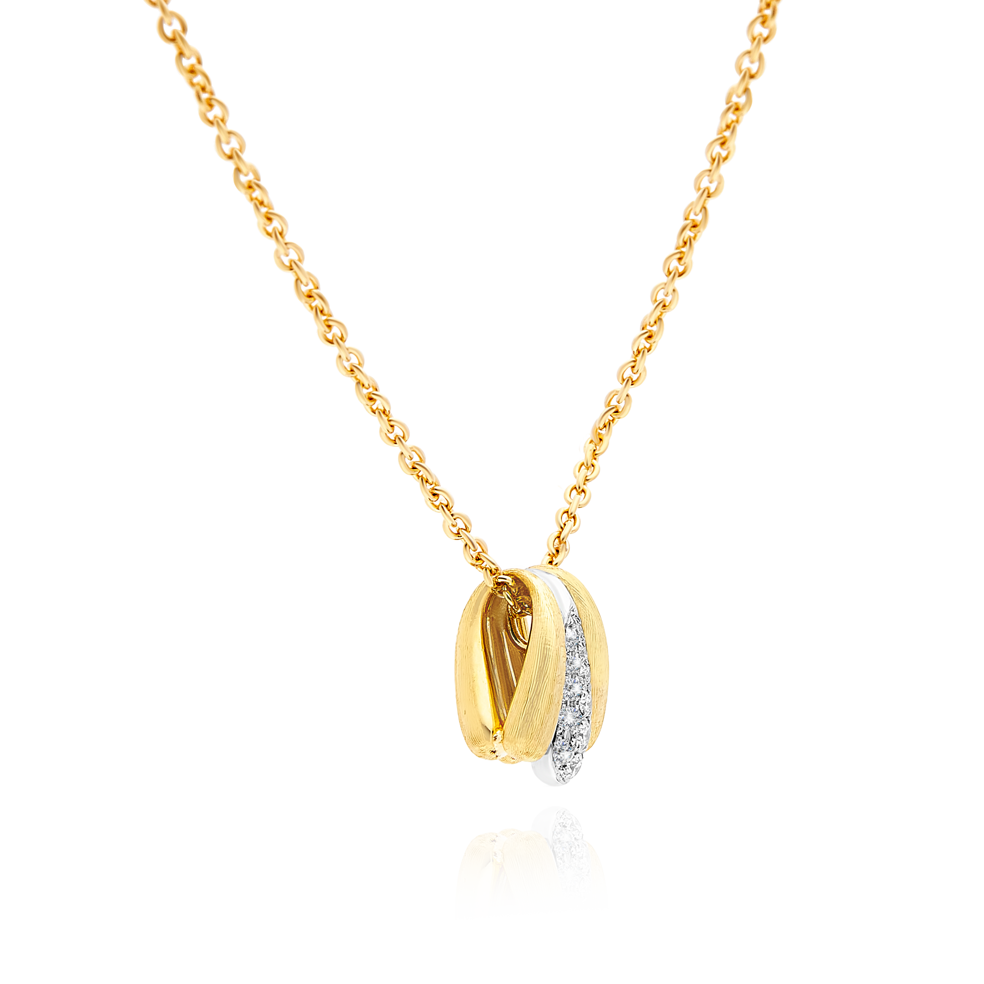 "18ct Gold and Diamond Small ""Lucia"" Pendant Marco Bicego"