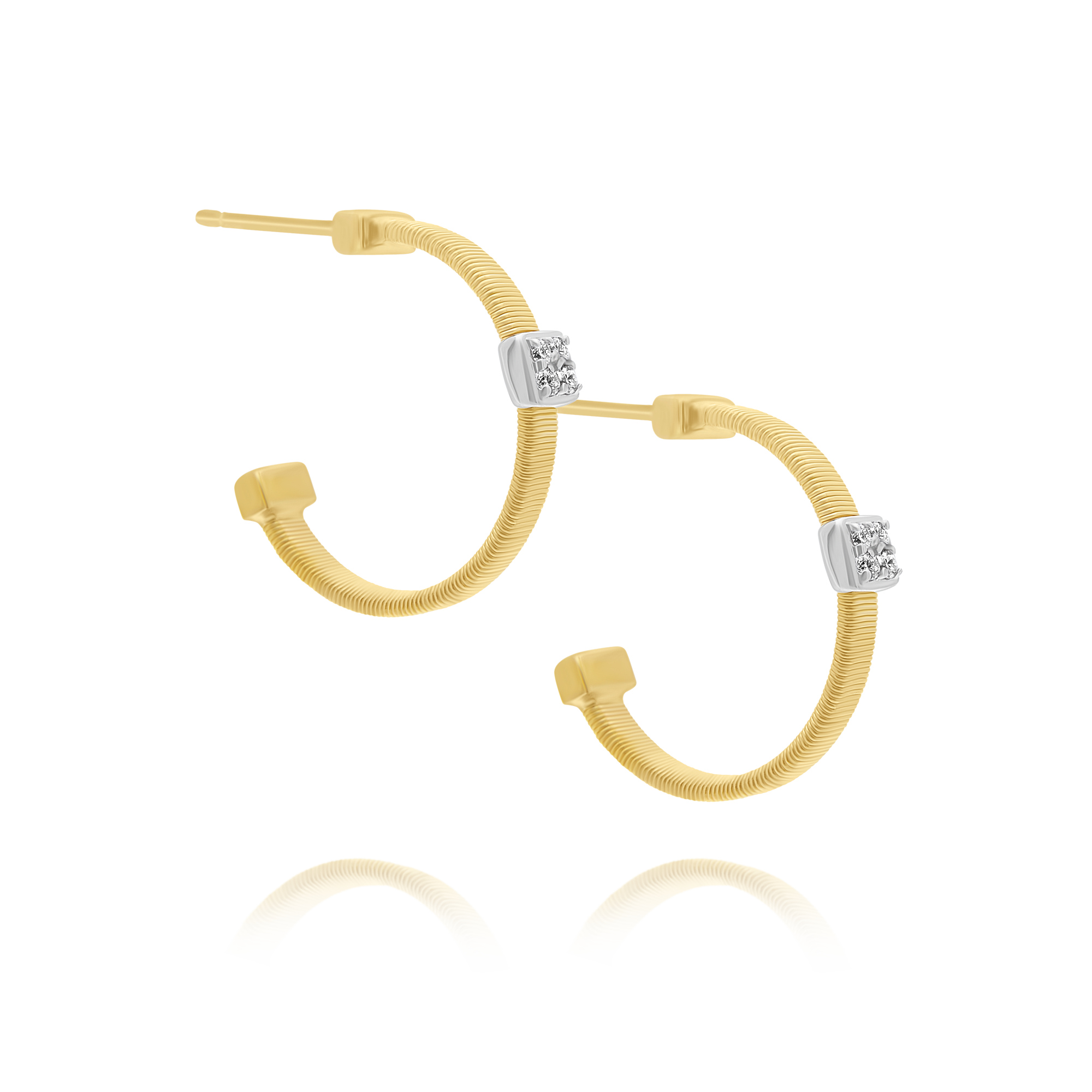 "18ct Gold and Diamond ""Masai"" Hoop Style Earrings Marco Bicego"