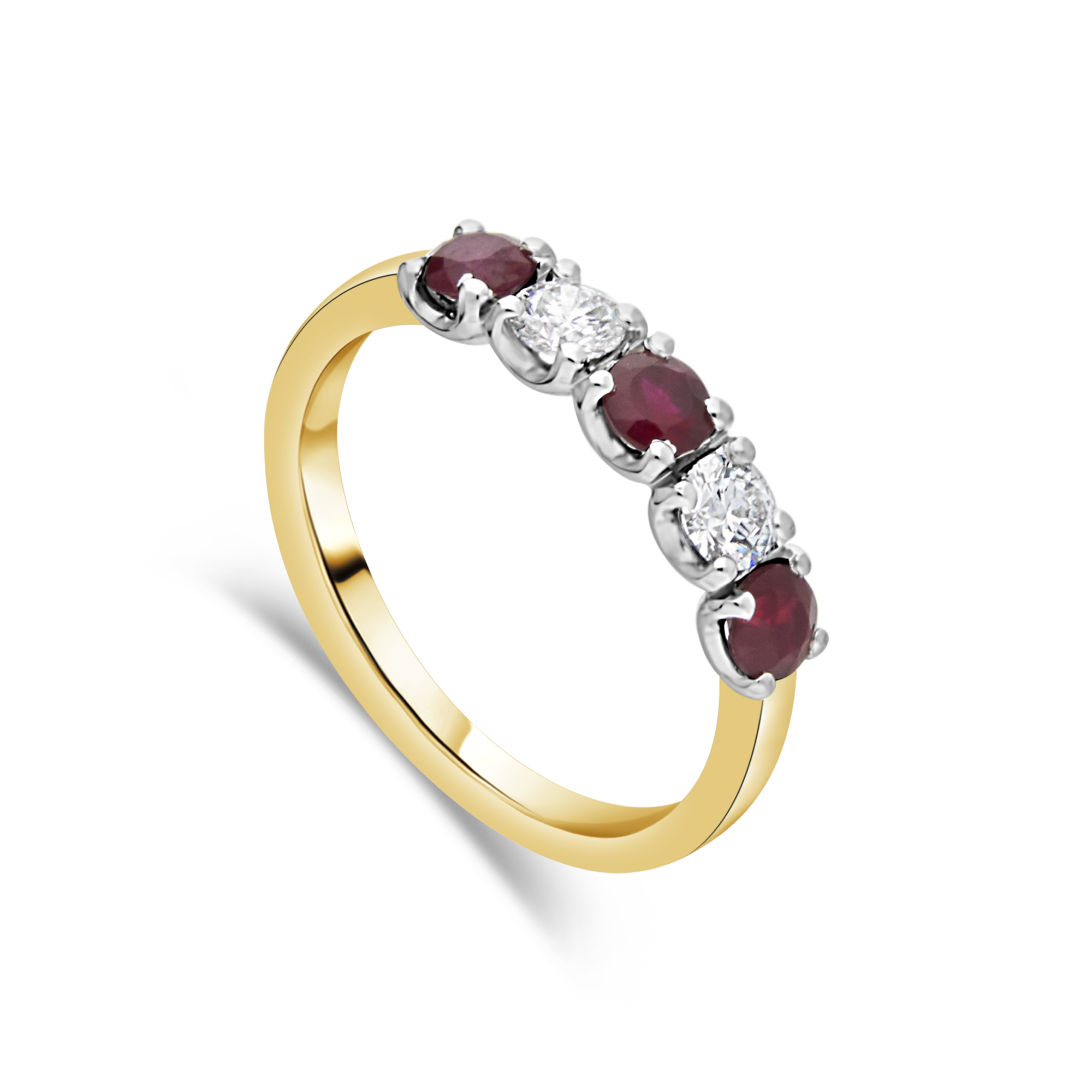"The ""Arc"" Ruby and Diamond, Yellow Gold"