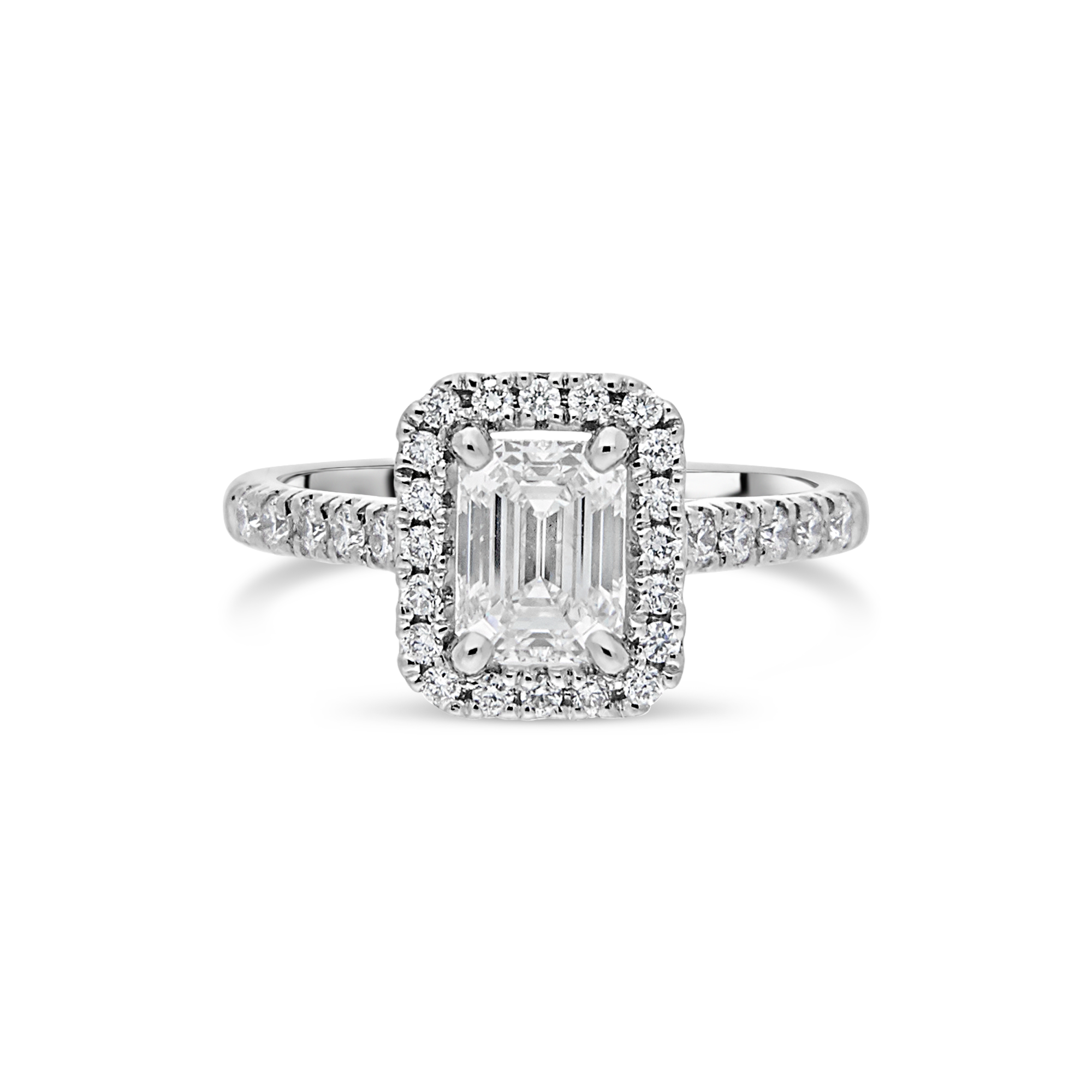 "The ""Corinne"" Radiant Diamond, Diamond Set Band"