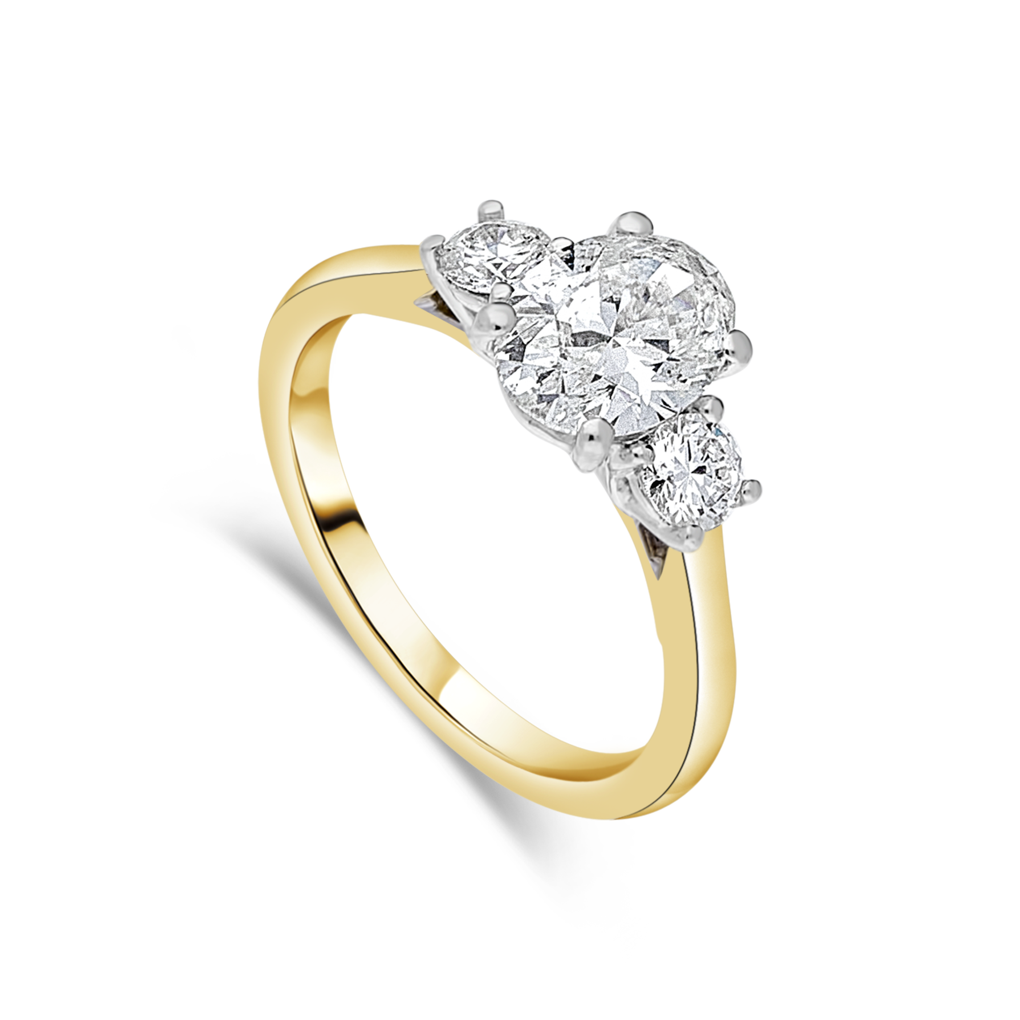 "The ""Tulip"" with Oval Diamond, Yellow Gold"