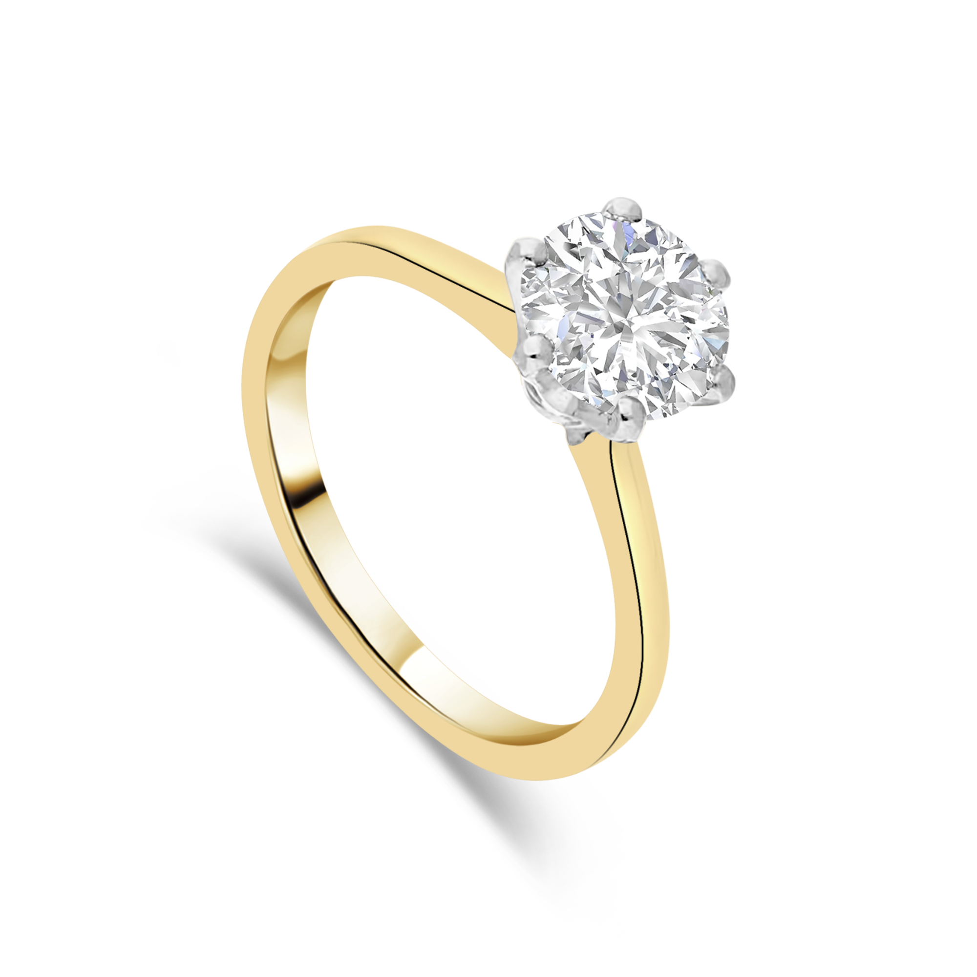 "The ""Romance"" Solitaire, Yellow Gold"