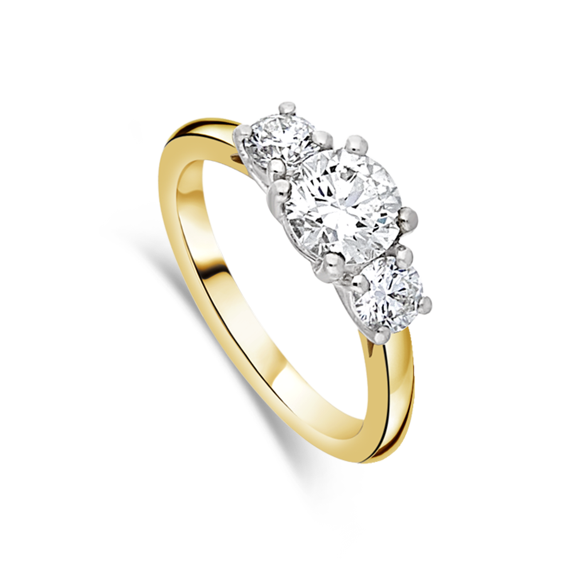 "The ""Exquisite"" Trilogy, Yellow Gold, 1.00ct total"