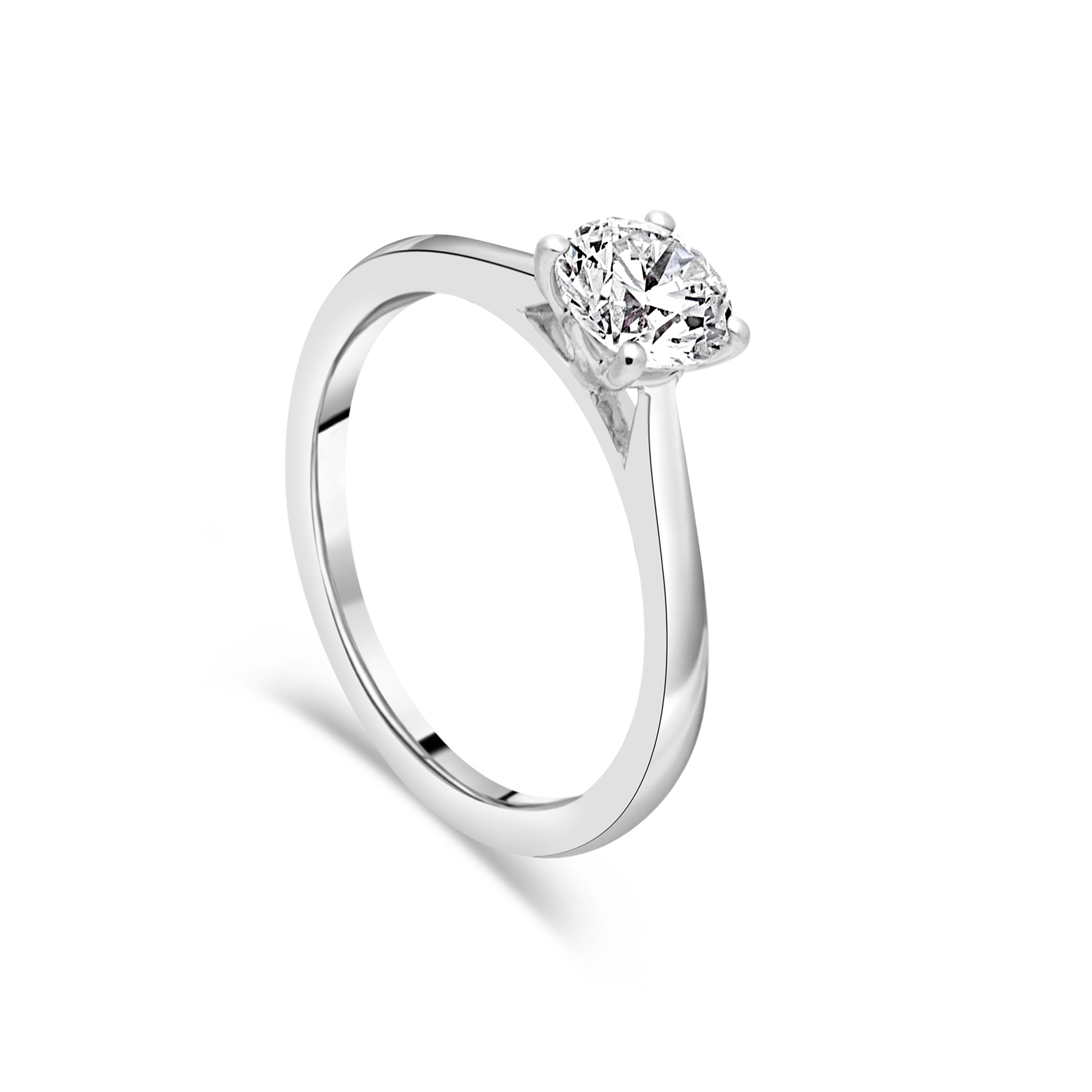 "The ""J'adore"" Solitaire, Platinum"