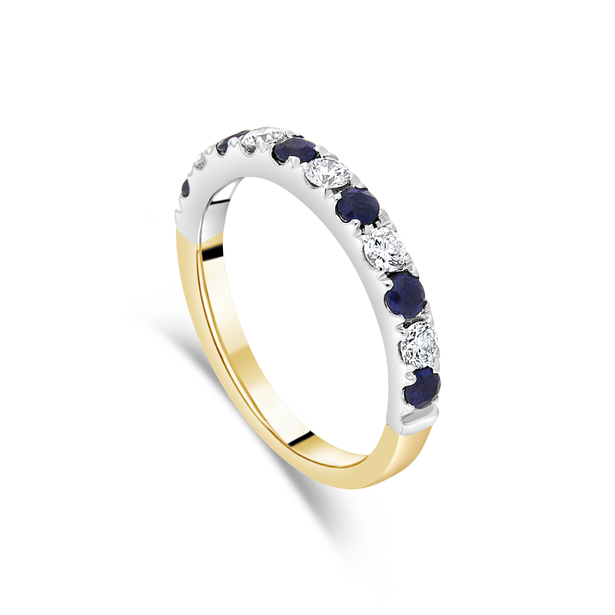Sapphire and Diamond Ring, Yellow Gold and Platinum
