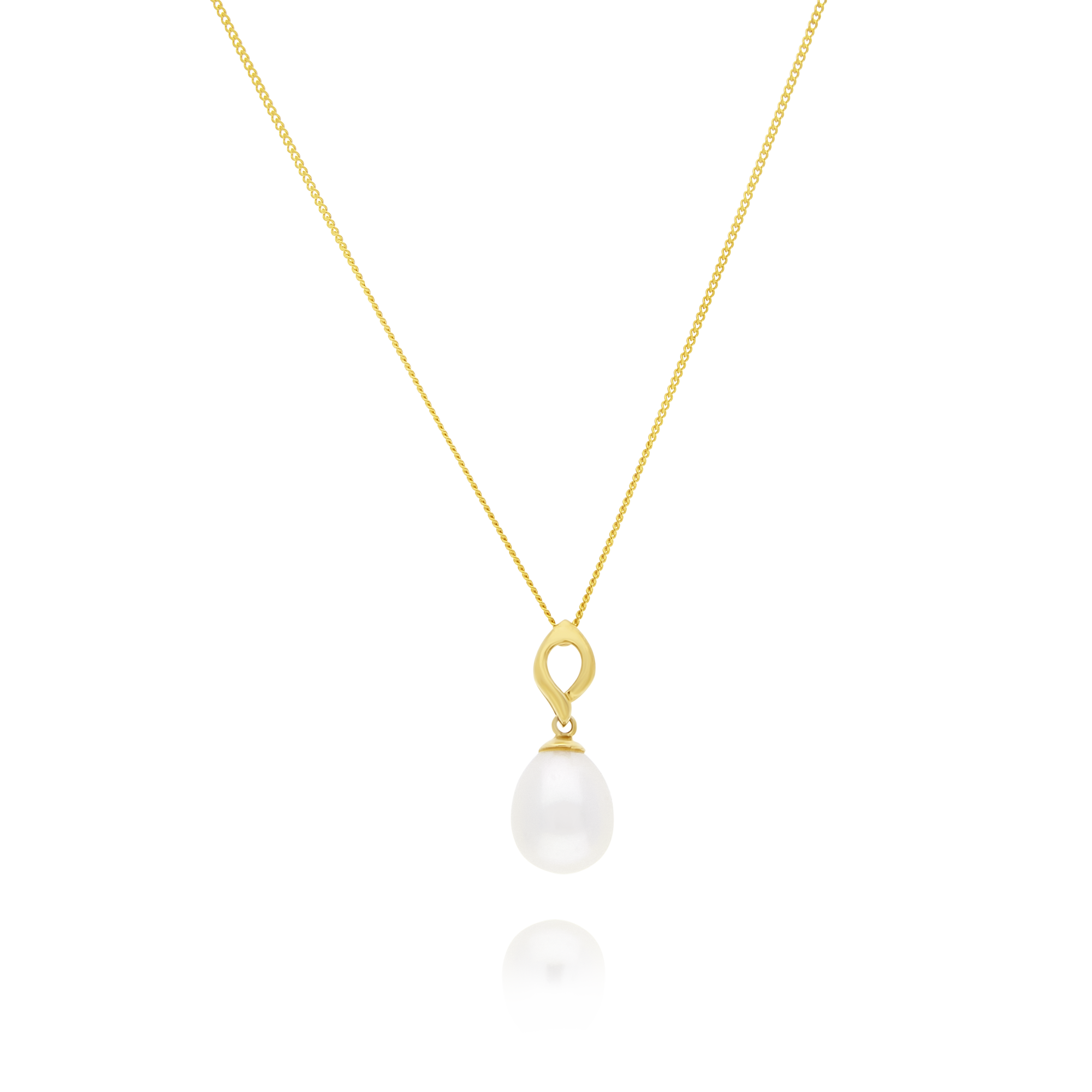 Drop Pearl Pendant and Chain