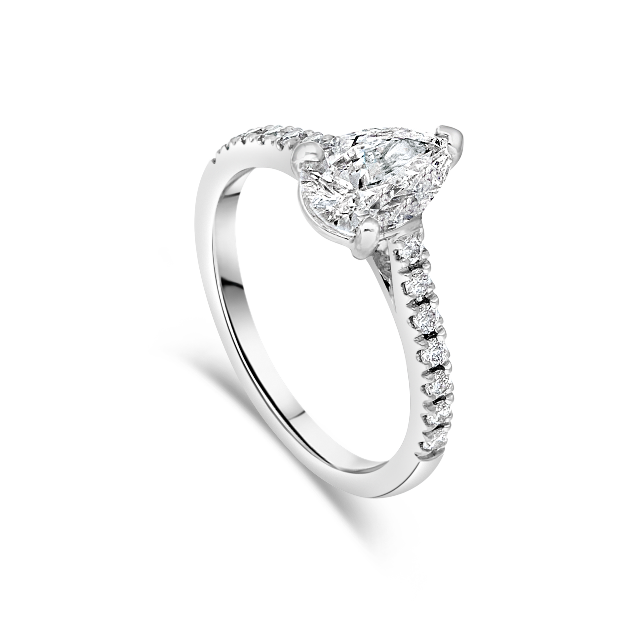 "The ""Amity"" with Pear Diamond Platinum"