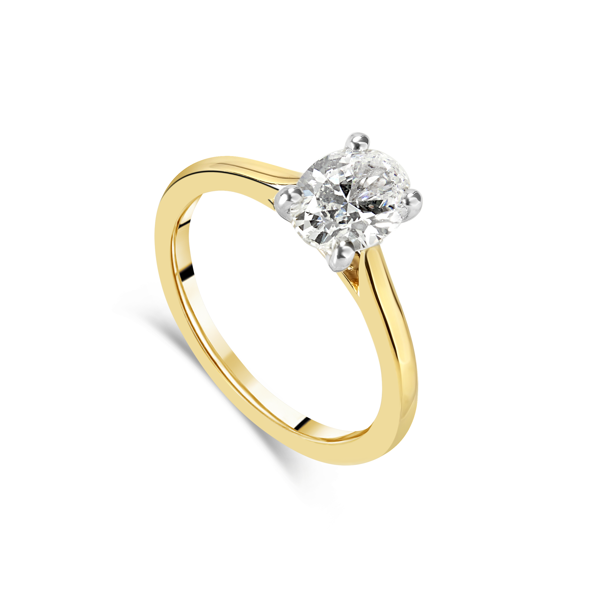 "The ""J'adore"" Oval Solitaire, Yellow Gold"