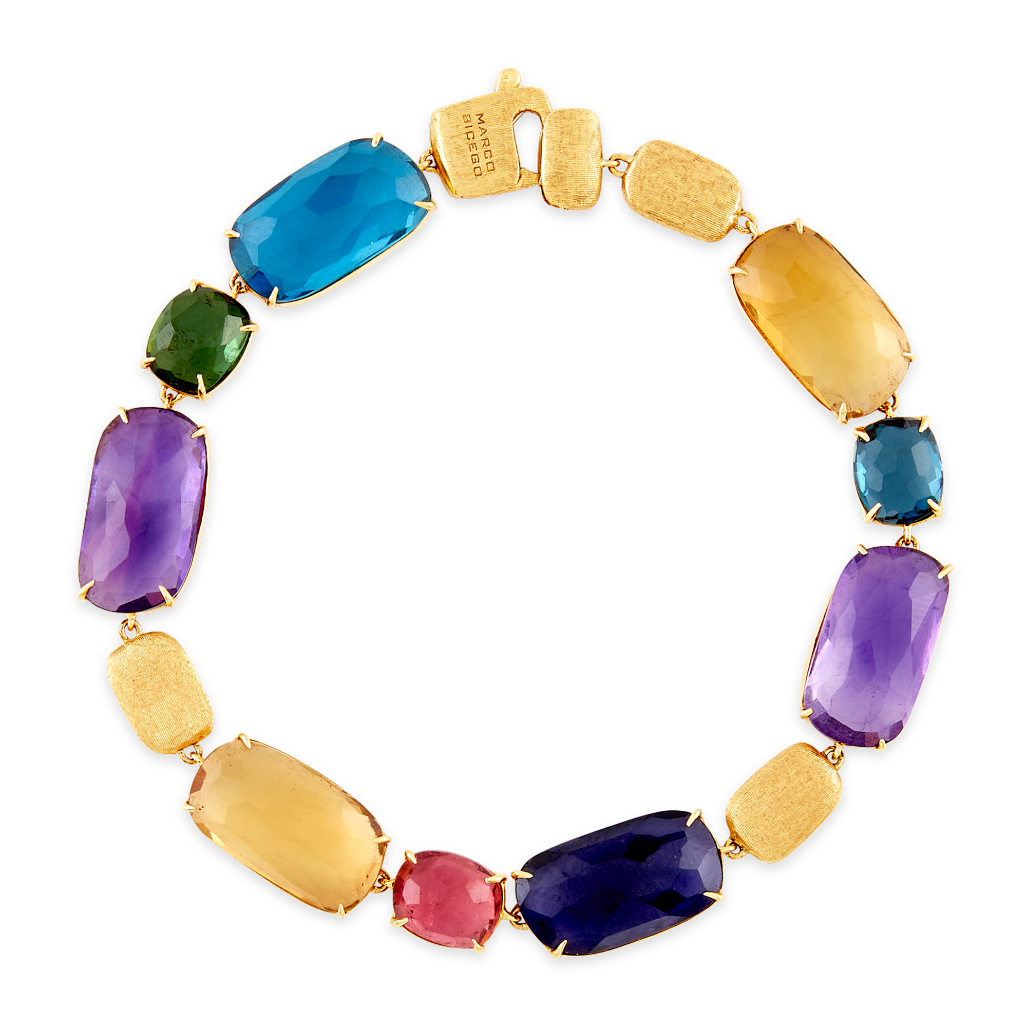 "18ct Gold and Multi-Gemstone ""Murano"" Bracelet Marco Bicego"