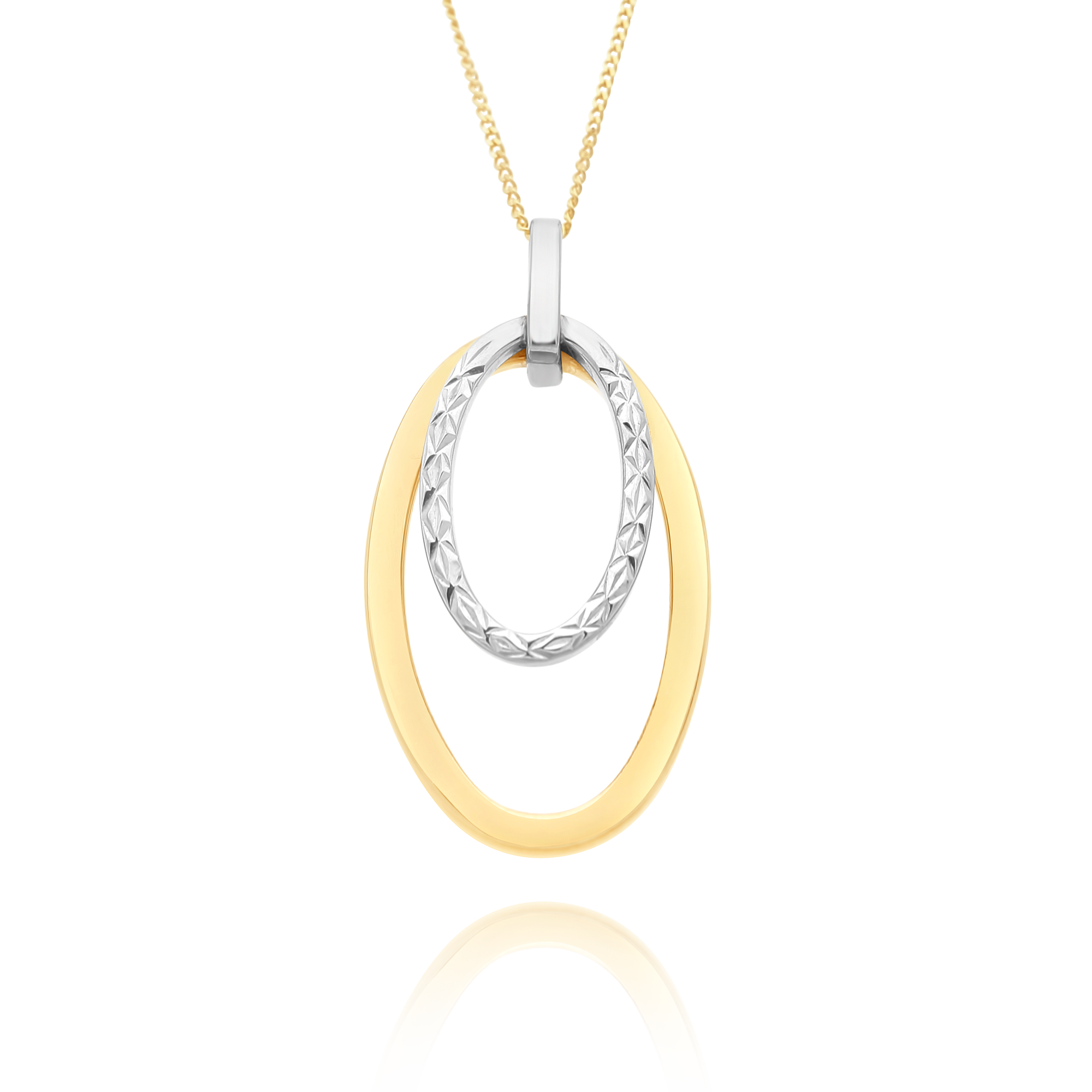 Two Tone Oval Pendant