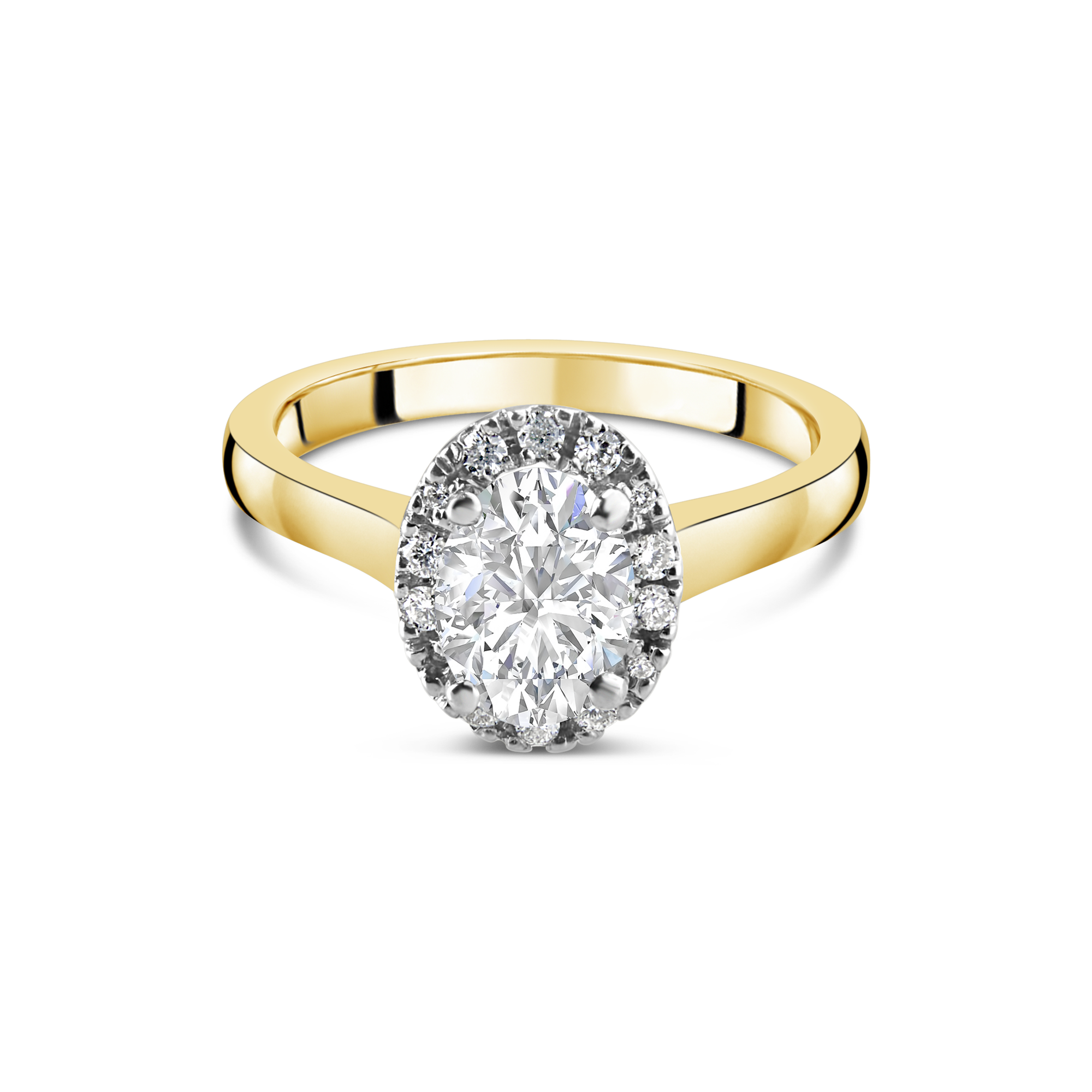 "The ""Corinne"" Oval Diamond Yellow Gold"