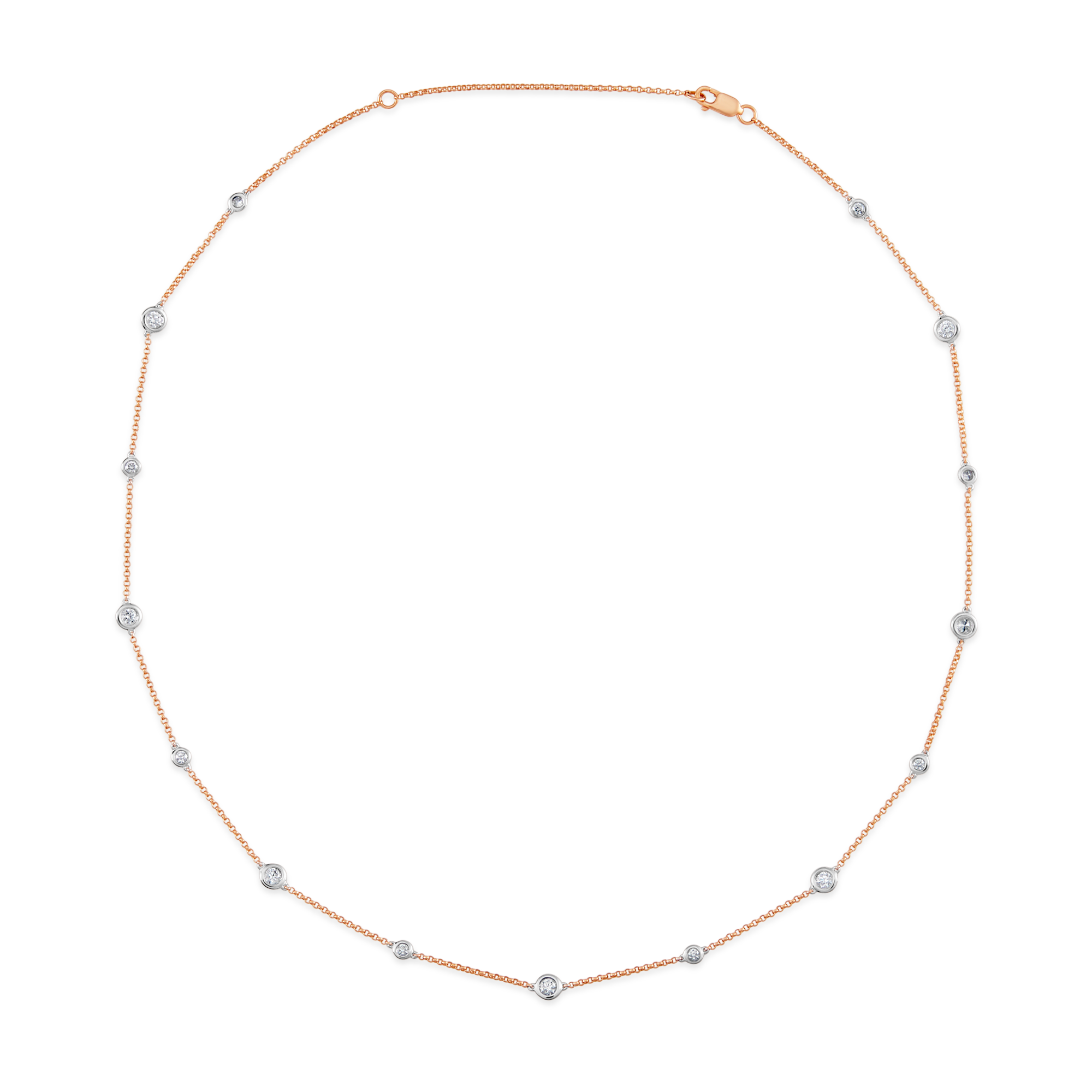 18ct Rose Gold and Diamond Neckchain