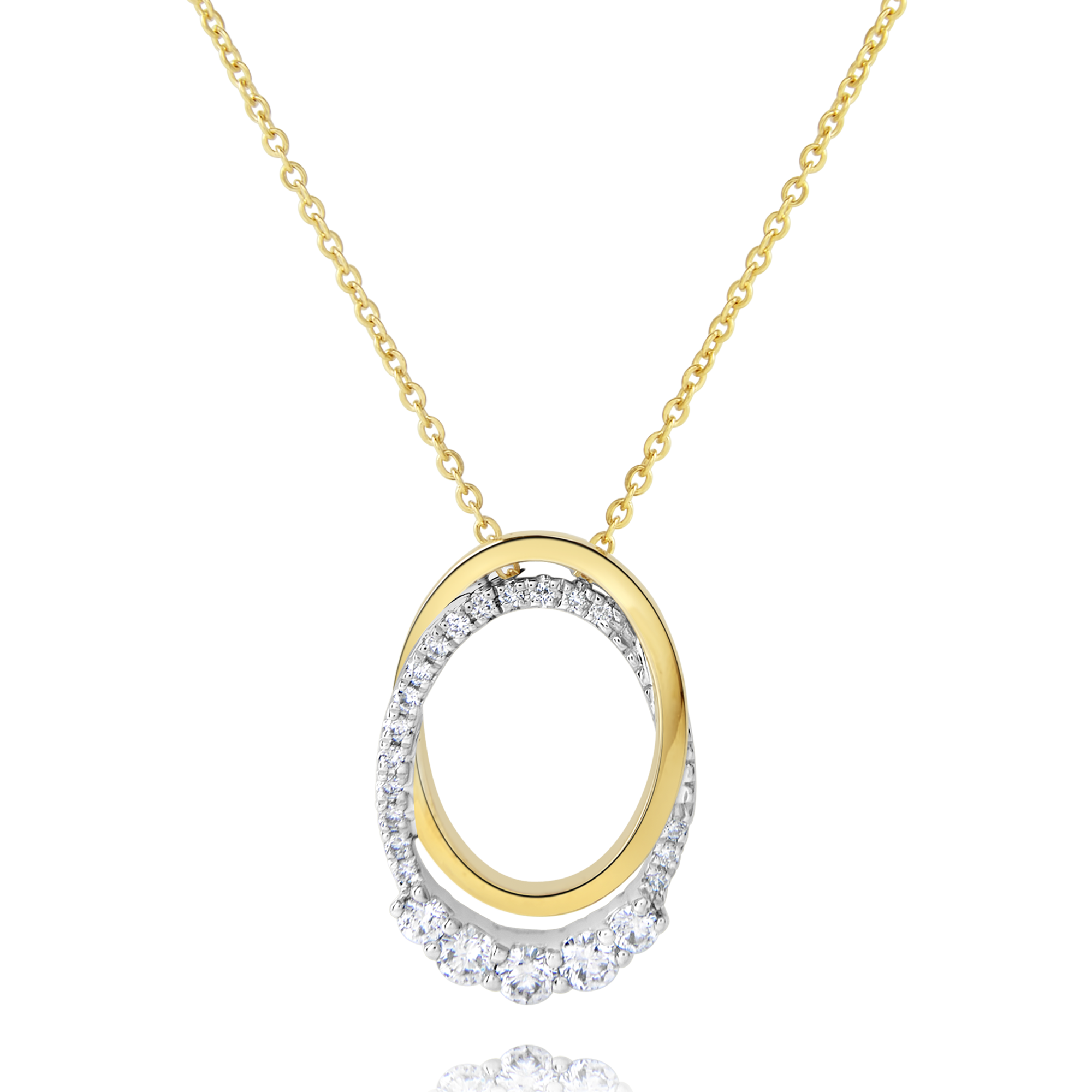 9ct Yellow Gold and Diamond Pendant