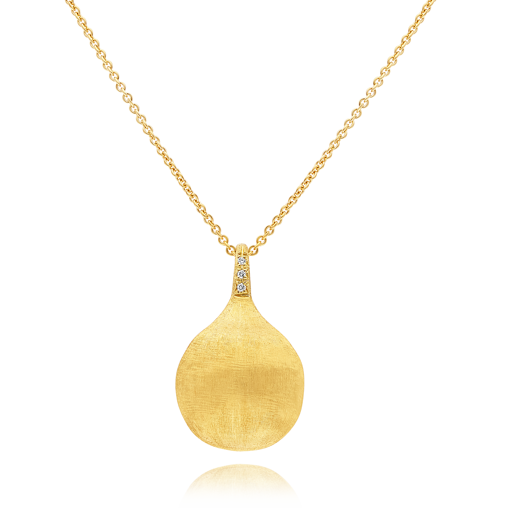 "18ct Gold and Diamond ""Africa"" Pendant Long Chain Marco Bicego"