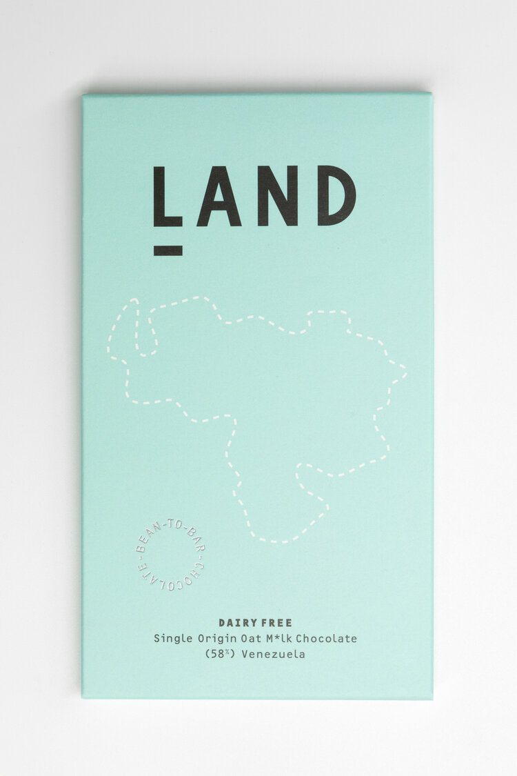 LAND: 58% Single Origin Venezuelan Oat M*lk Chocolate (Vegan)