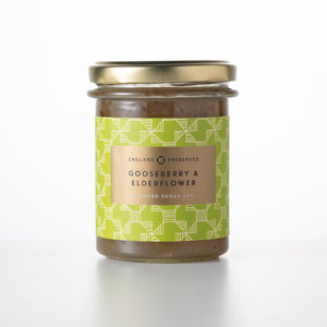England Preserves - Gooseberry & Elderflower (230g jar)