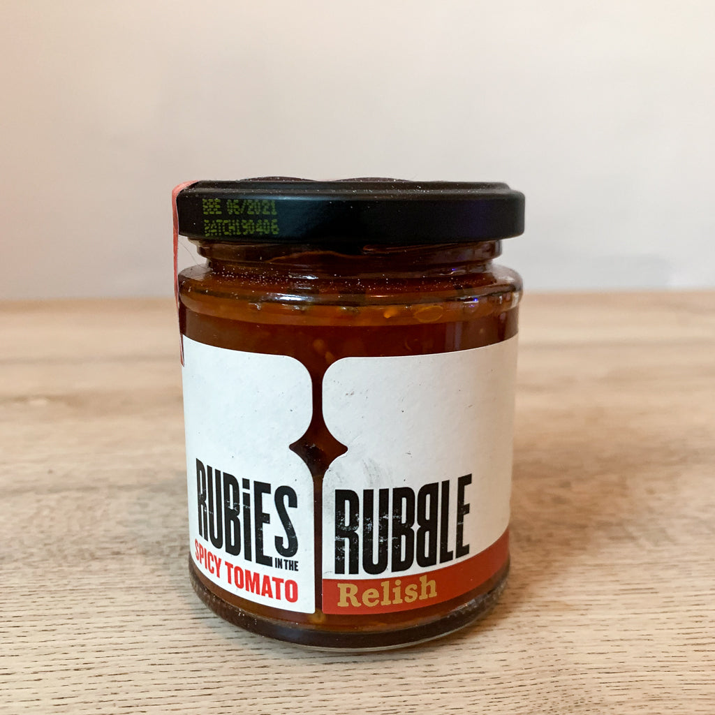 Rubies in the Rubble - Spicy Tomato Relish 210g - Lumberjack Supplies, Camberwell SE5