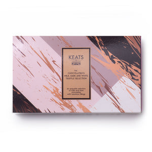 Keats London - Dark,Milk and White Chocolate and Truffle Selection, 8 pieces 90g