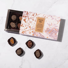 Load image into Gallery viewer, Keats London - Luxury Chia Seed and Fruit Chocolate selection, 8 pieces 85g