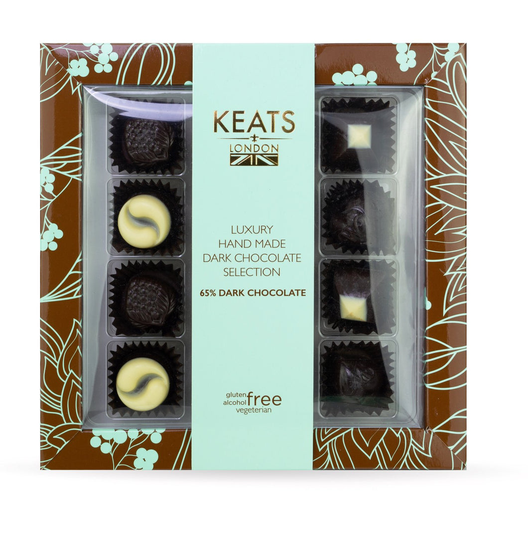 Keats London - Handmade Luxury Dark Chocolate Selection, 120g