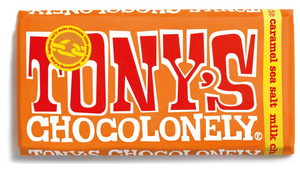 Tony's Chocolonely - milk caramel sea salt 32% (180g bar)