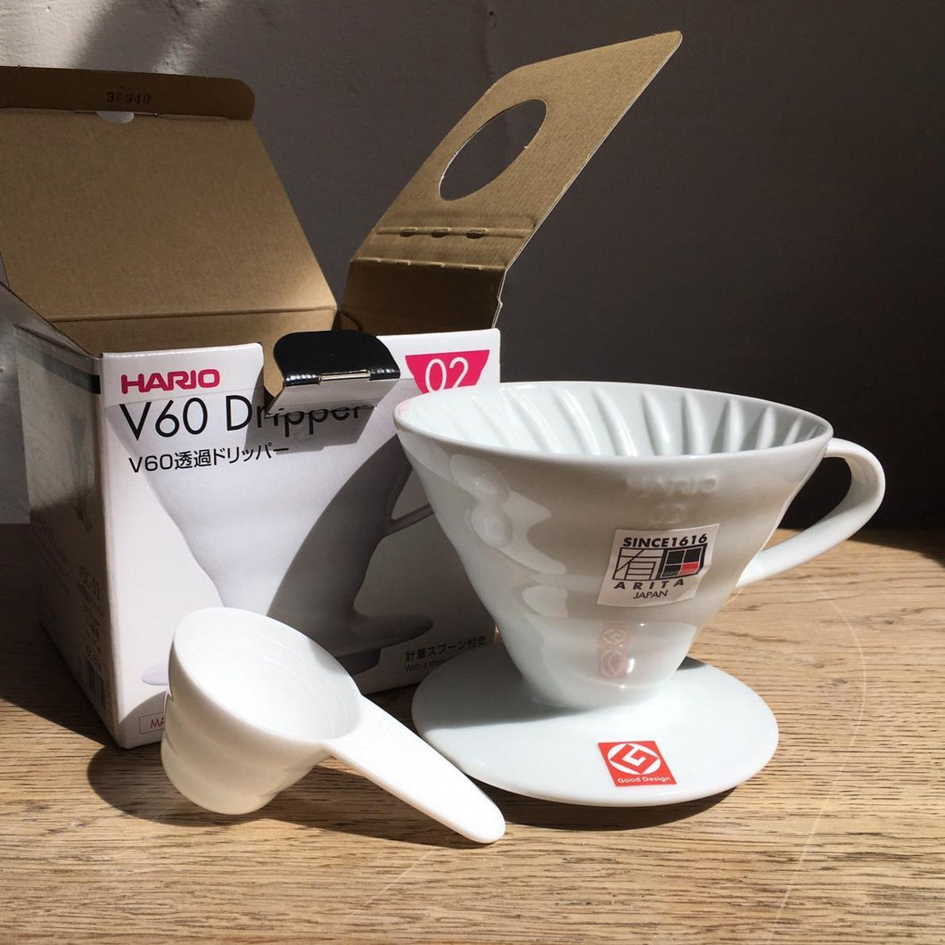 Hario V60 02 brewer, ceramic (2-3 cups)